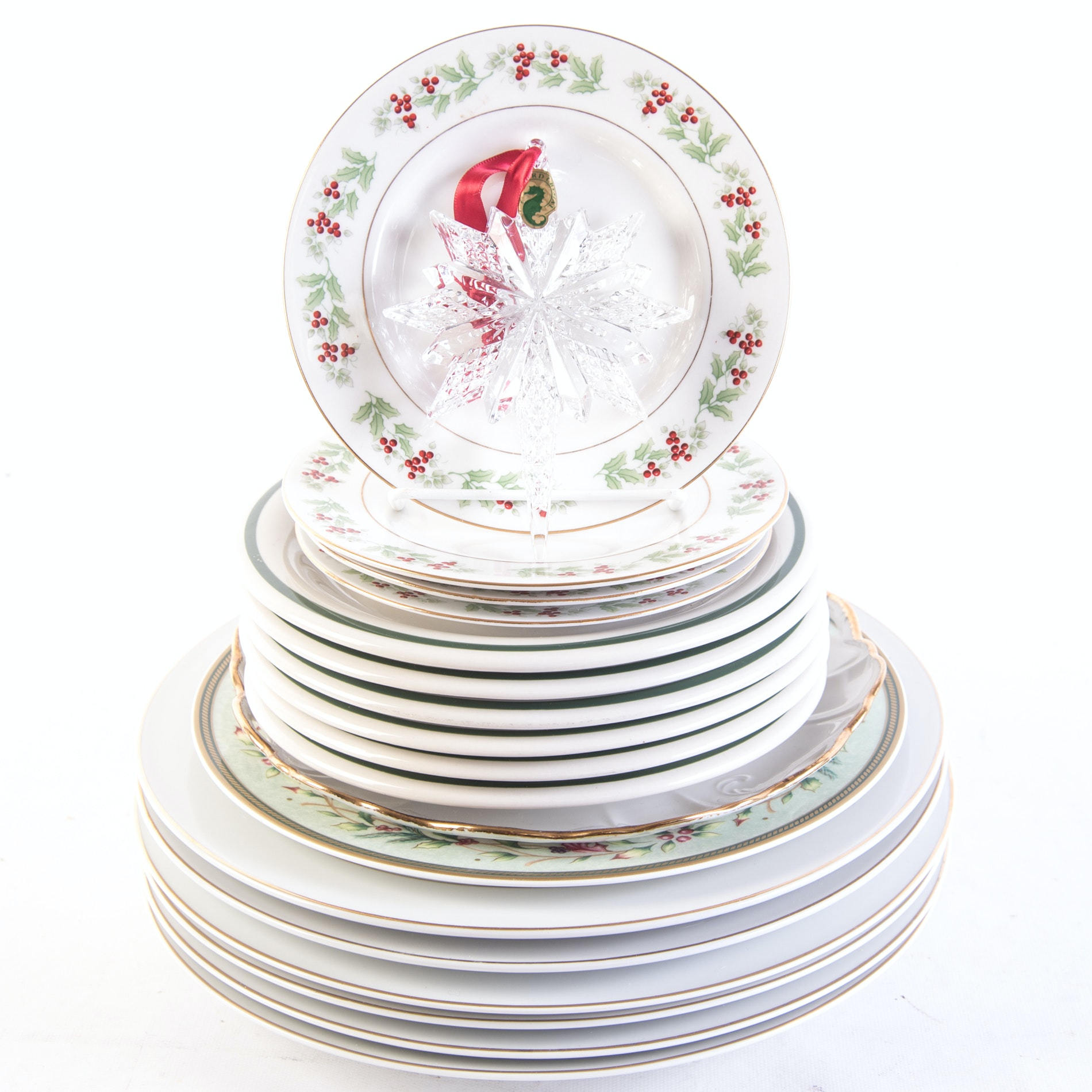 """Waterford """"Snowstar"""" Christmas Ornament and Christmas Tableware"""