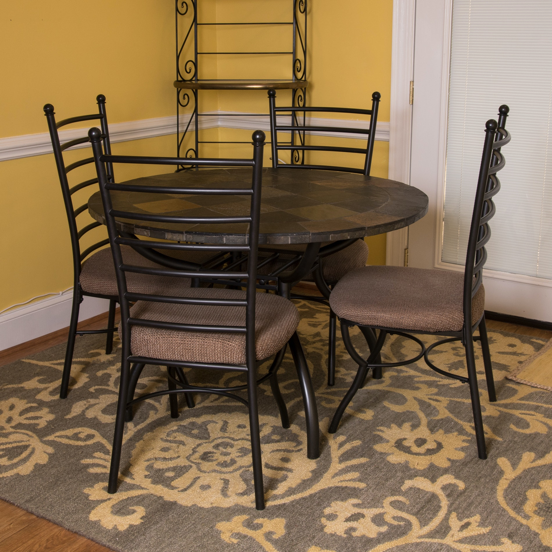 Contemporary Breakfast Table and Chairs