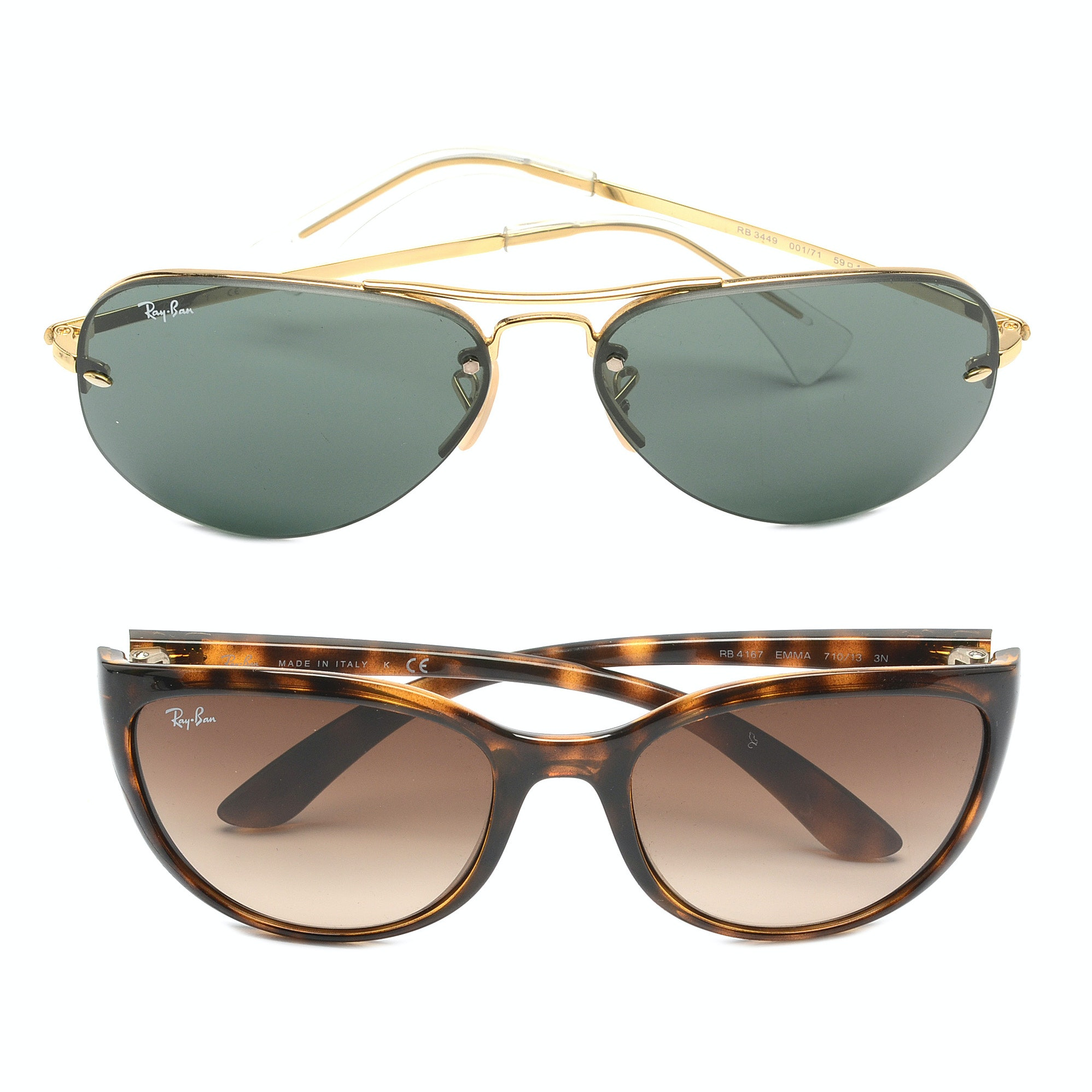 Two Pairs of Ray-Ban Sunglasses