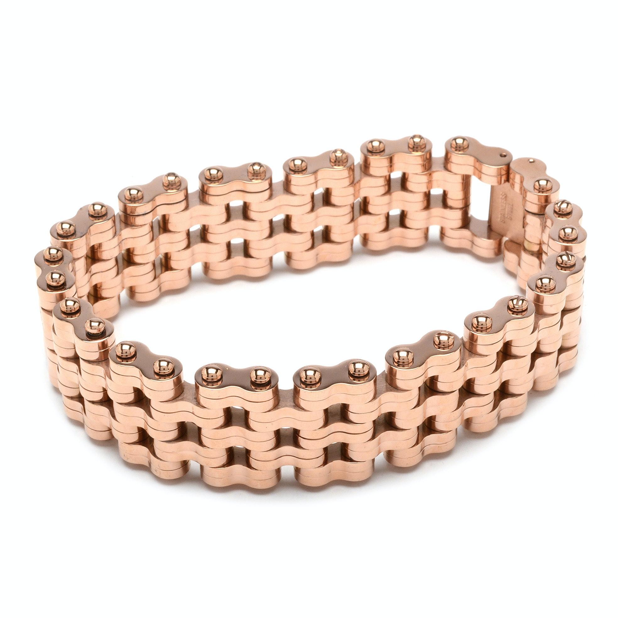 "Aragon Brand Stainless Steel ""Charger"" Bracelet"