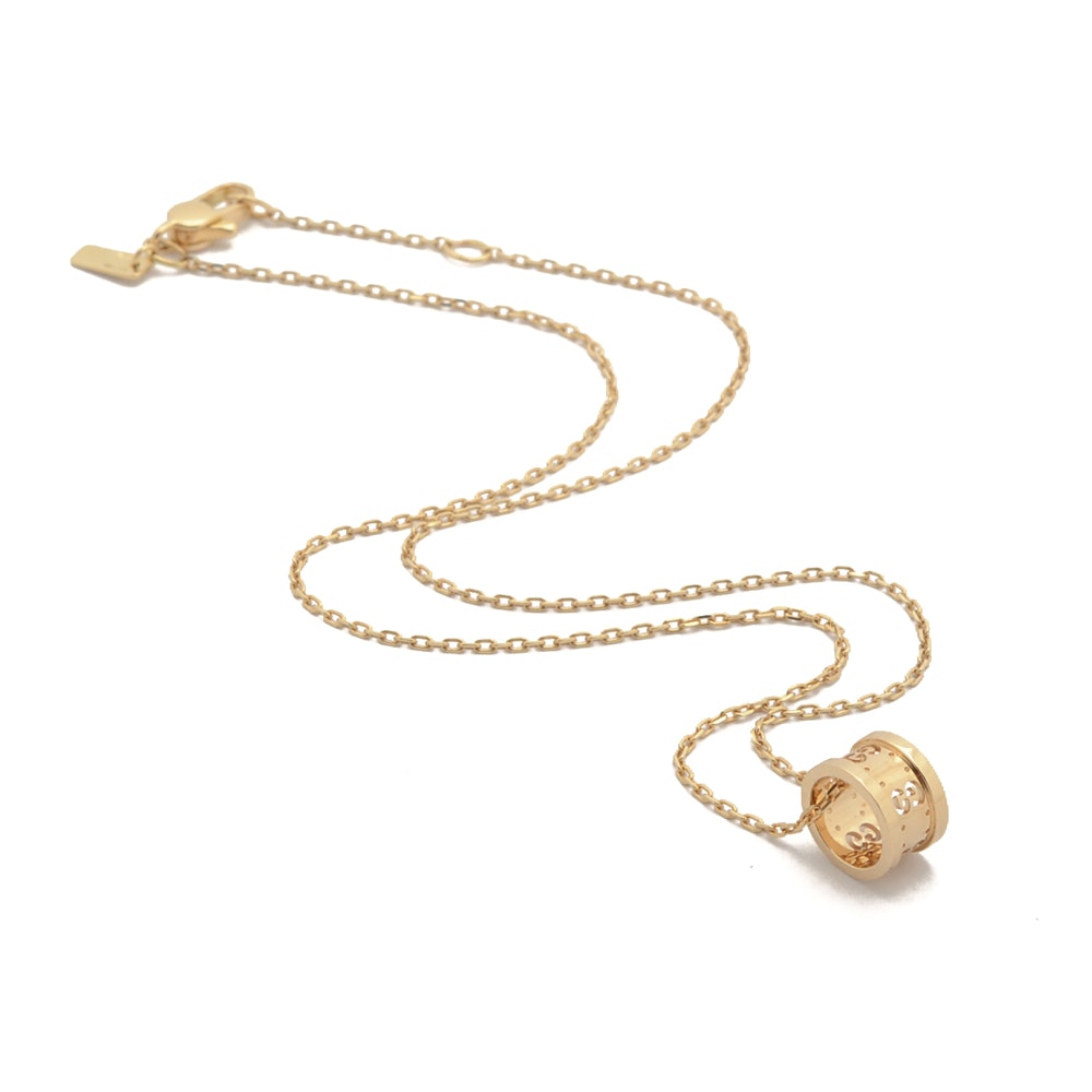 18K Yellow Gold Gucci Icon Pendant Necklace