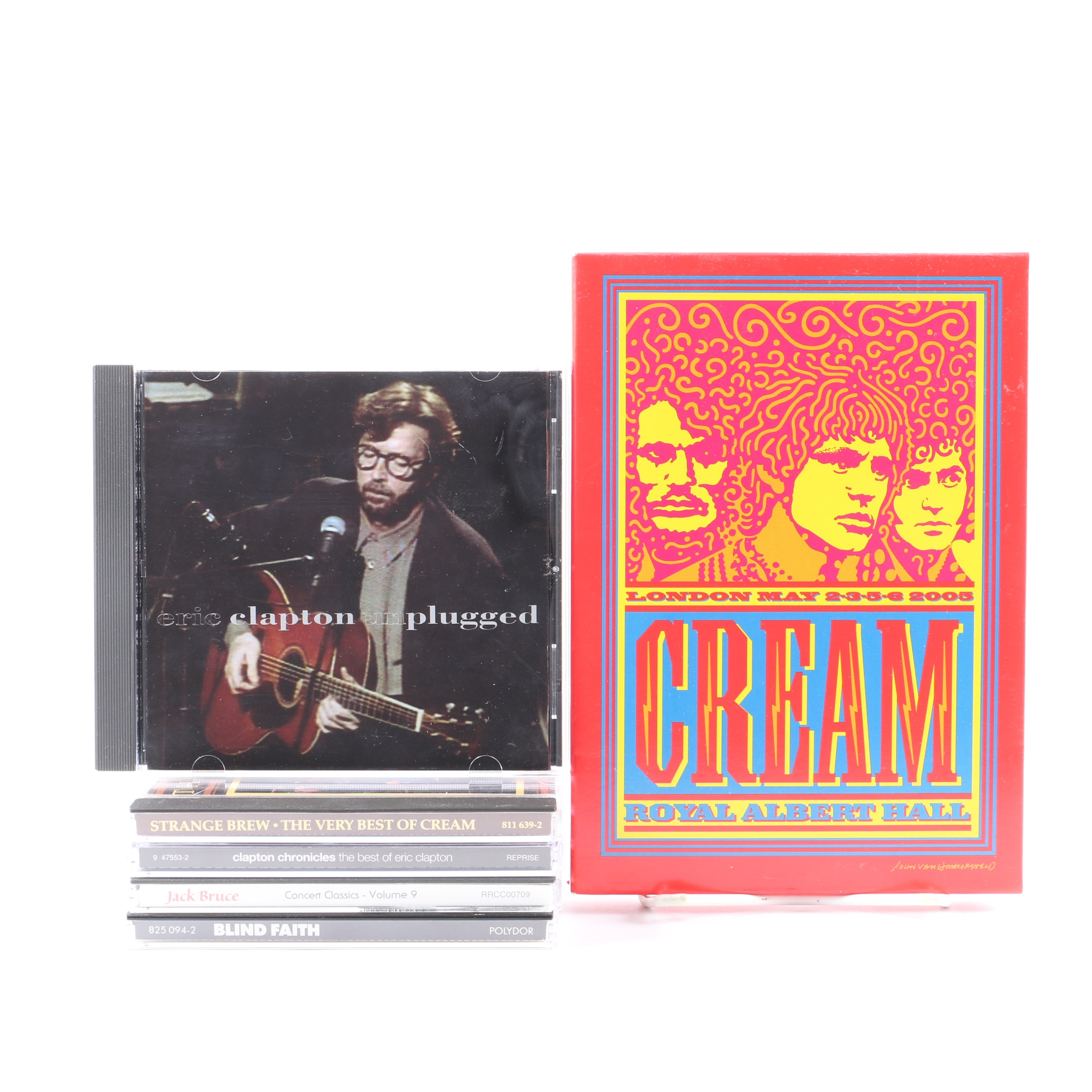 """Cream and Eric Clapton Collection Including """"Blind Faith"""" and """"Unplugged"""""""