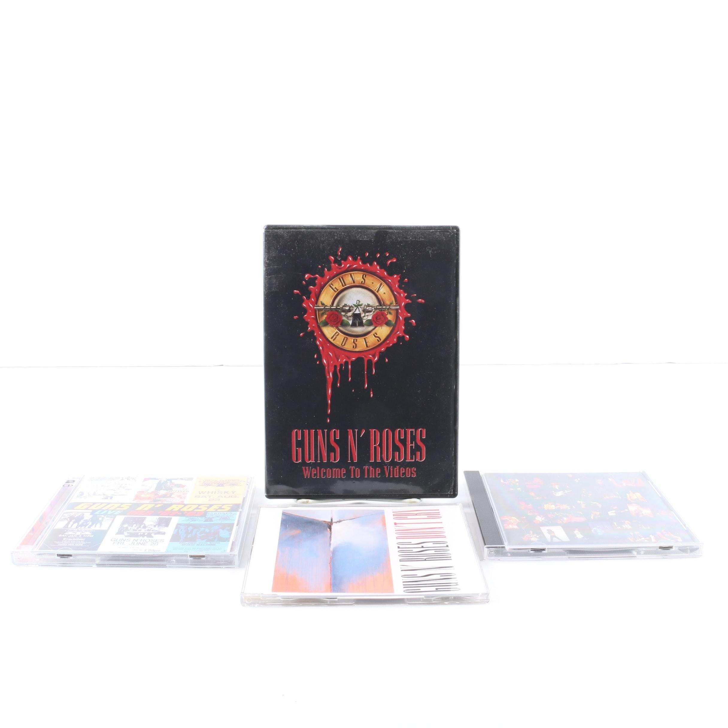 """Guns N' Roses CDs and DVDs Including """"Appetite For Destruction"""" Misprint"""