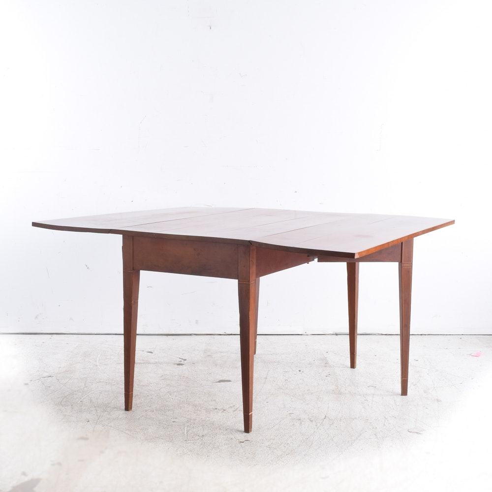 Handmade Cherry Drop Leaf Table