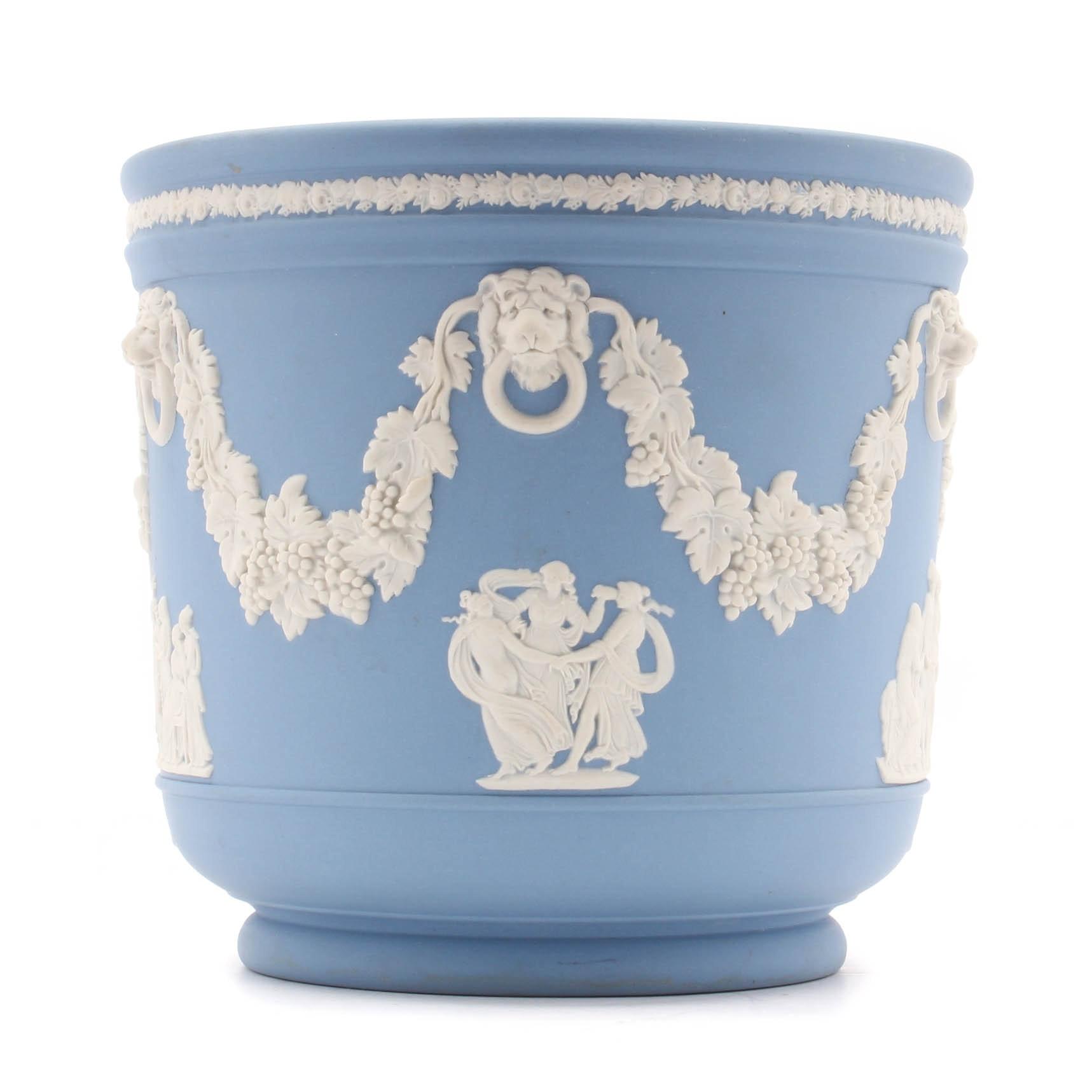 Wedgwood Blue Jasperware Cache Pot