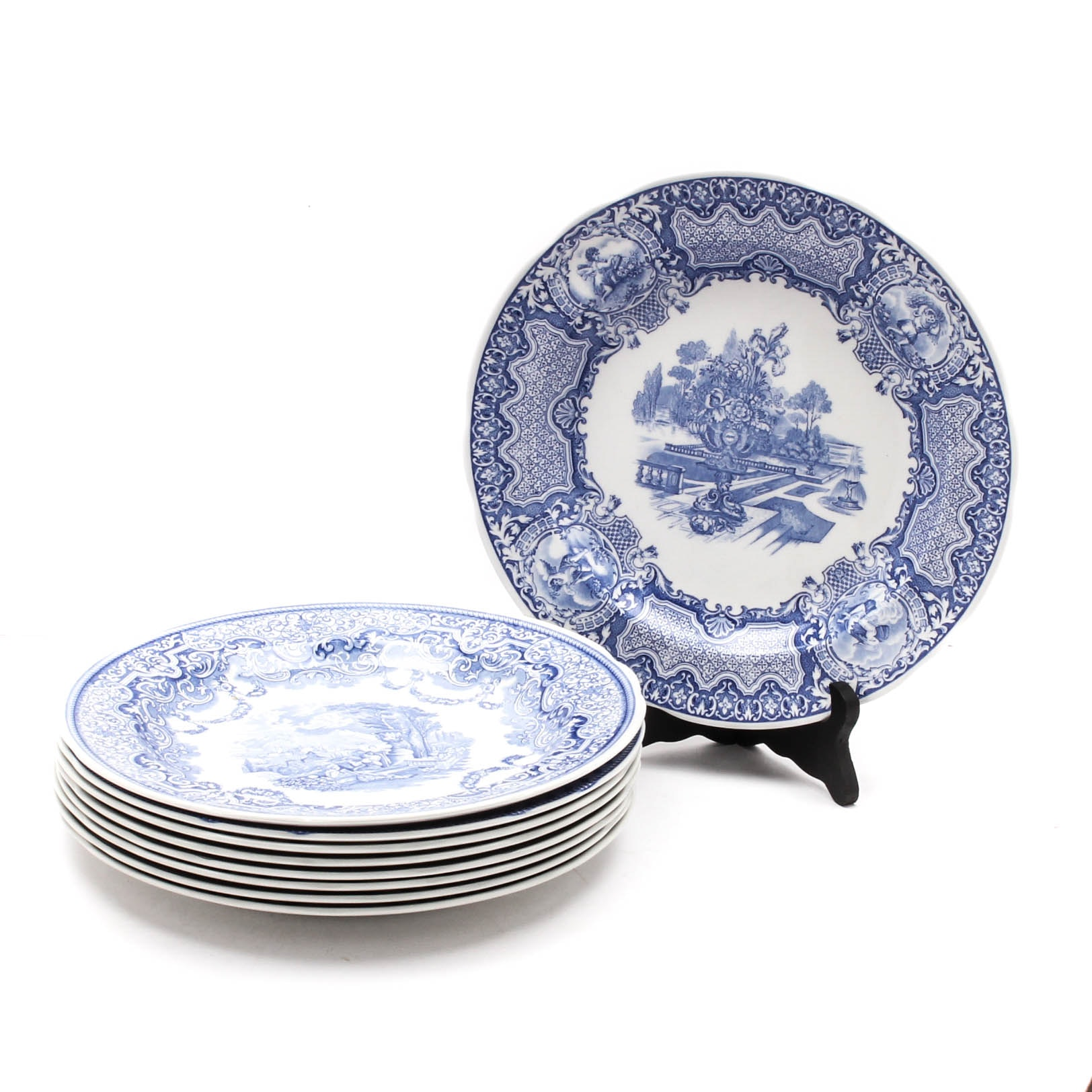 """Spode """"The Blue Room"""" and """"Archive Collection"""" Porcelain Plates"""