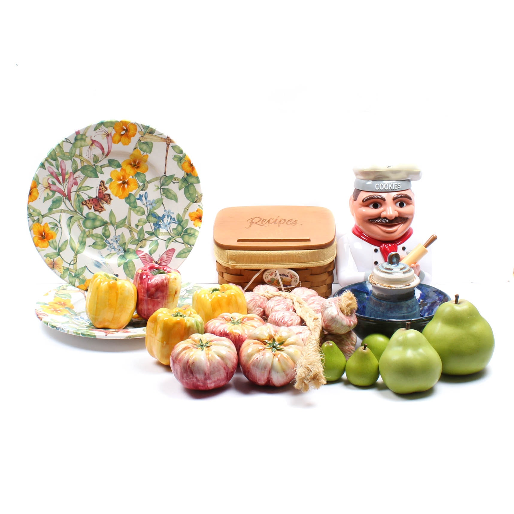Cookie Jar, Plates, Longaberger  and More