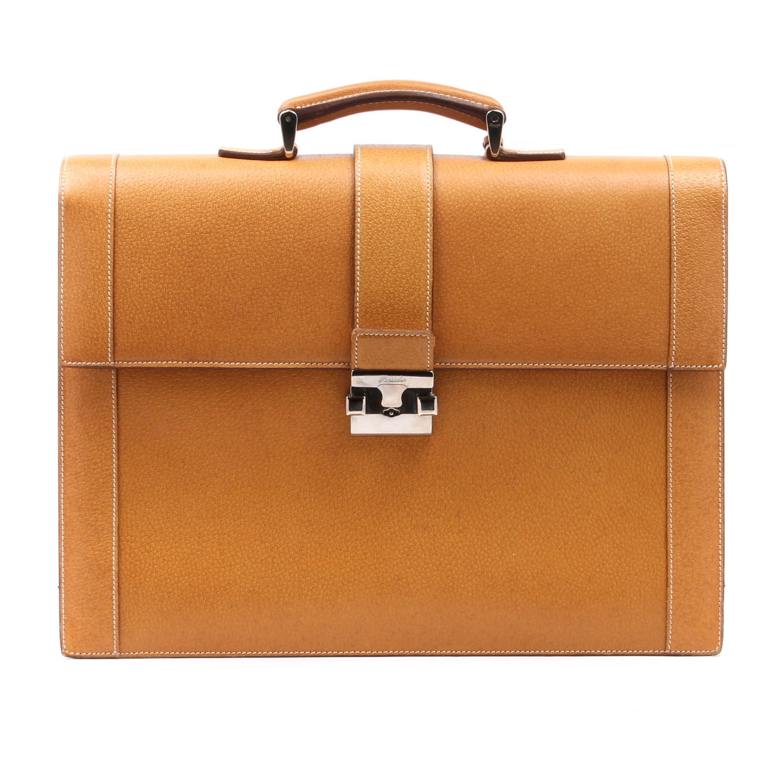 Pineider Italian Leather Briefcase