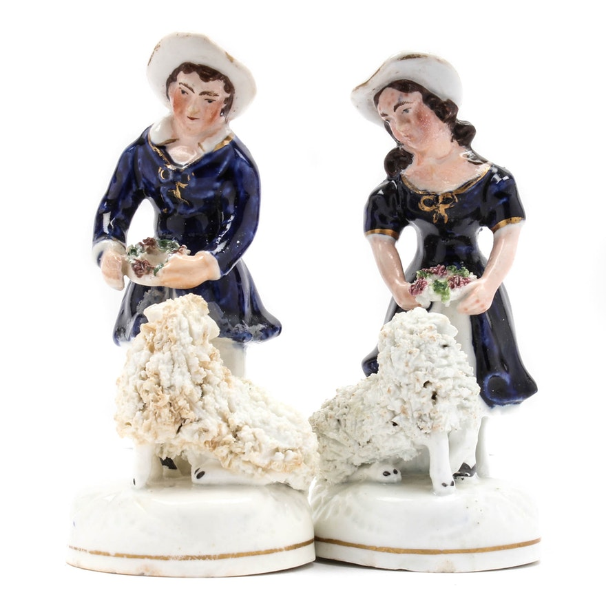 cde57ddbeb6 Staffordshire Shepherd Figurine Pair   EBTH