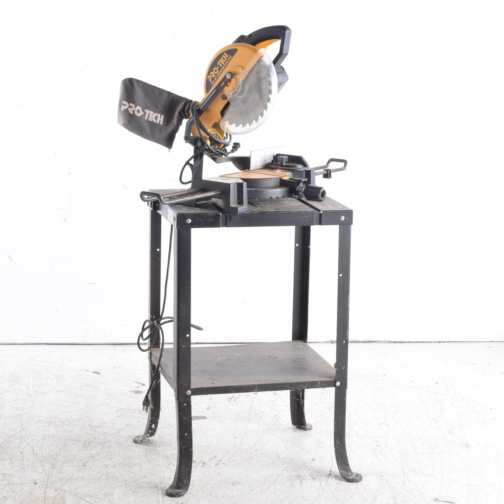 """Pro-Tech 10"""" Compound Miter Saw With Table"""