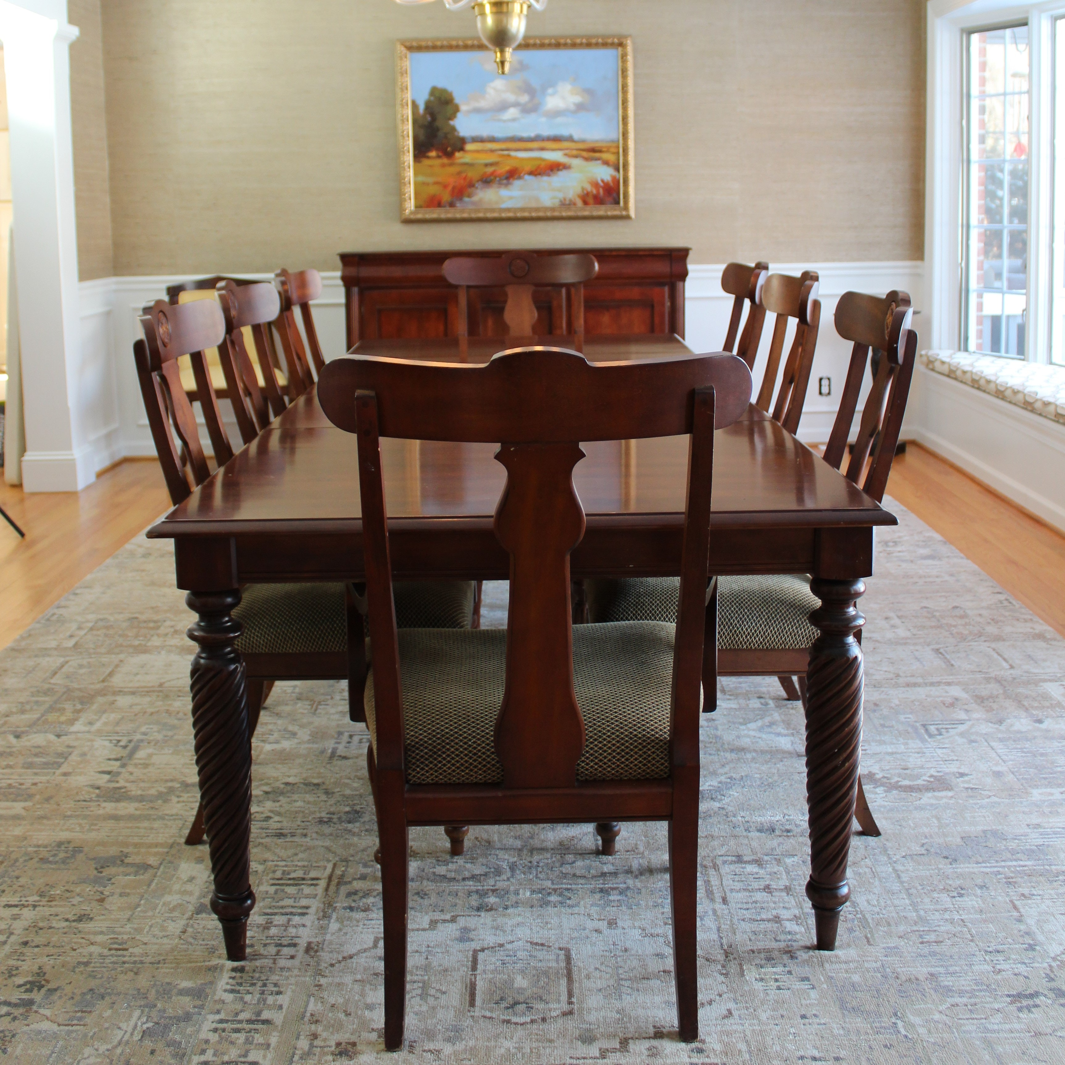 """British Classics"" Dining Set by Ethan Allen"