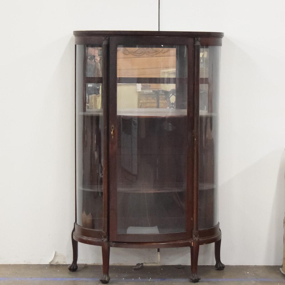 Demilune Mirrored Curio Cabinet