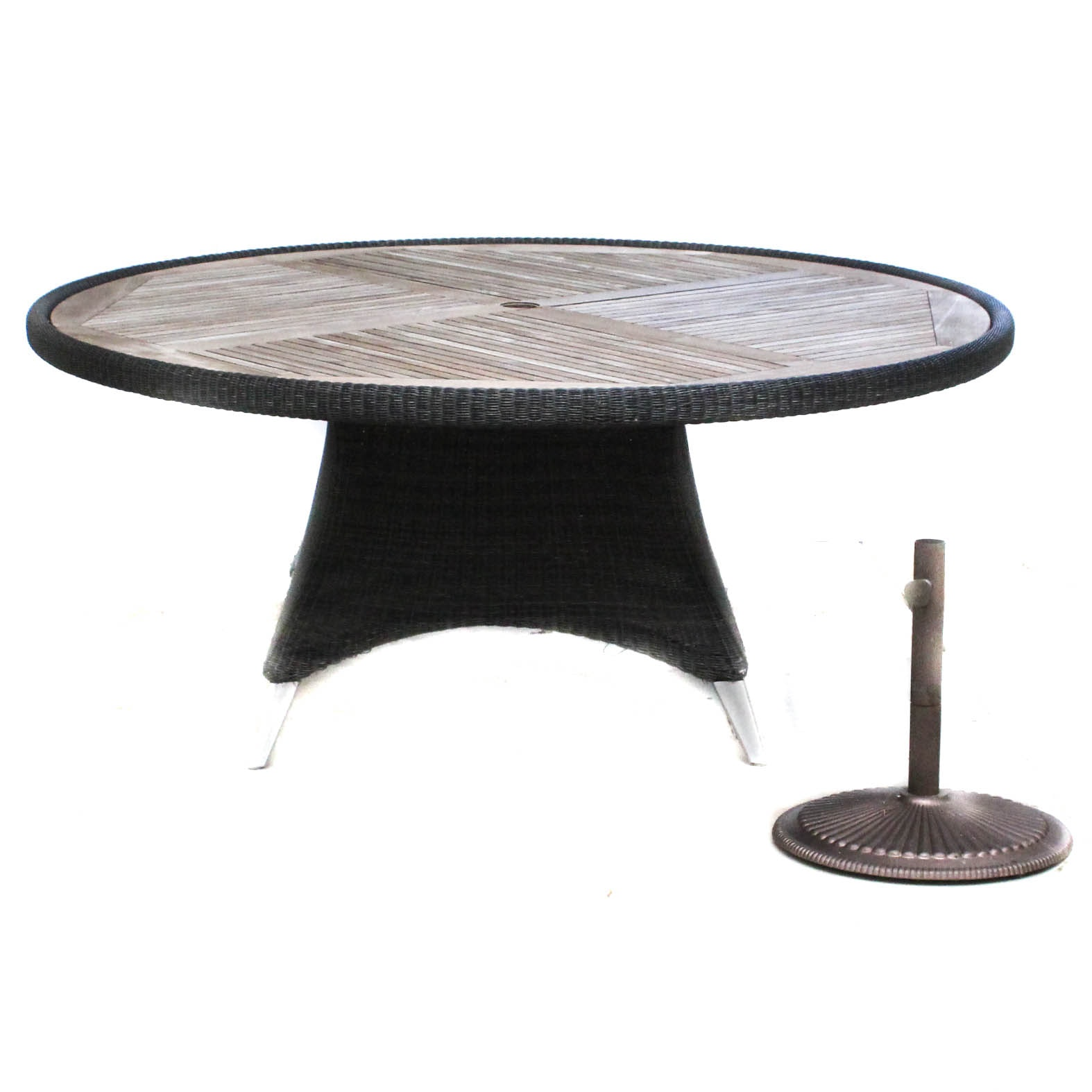 Frontgate Patio Table with Umbrella