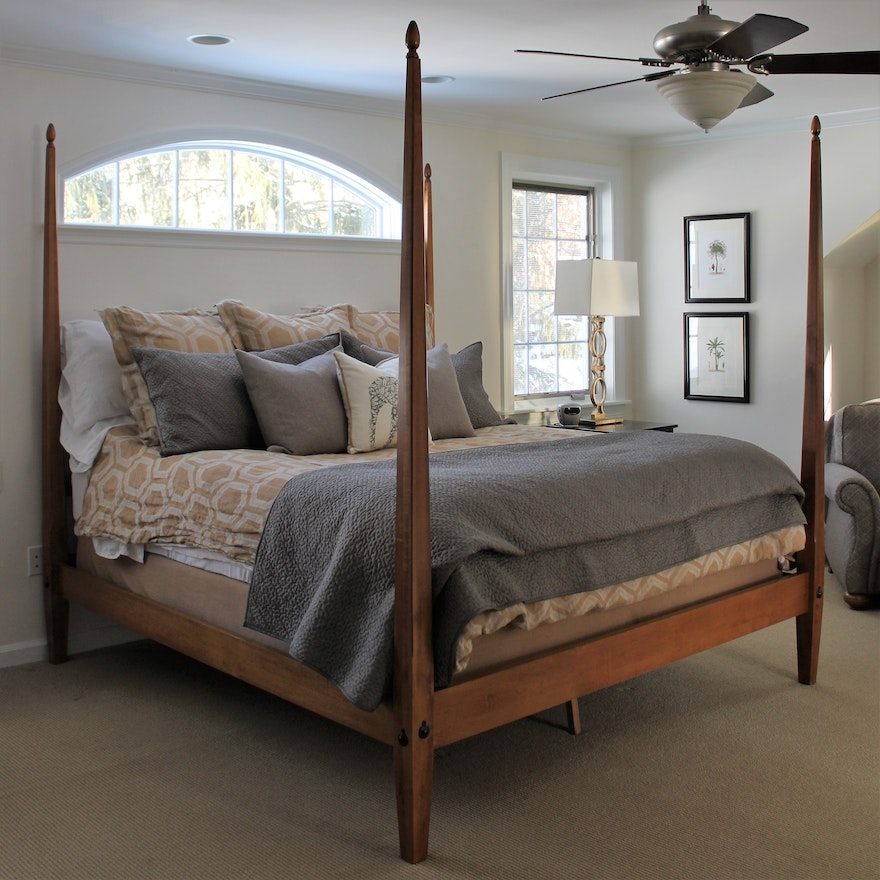 Barrett King Size Pencil Poster Bed Frame By Ethan Allen