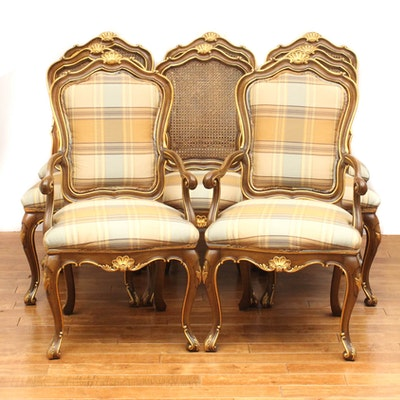Karges French Country Style Walnut Dining Chairs - Online Furniture Auctions Vintage Furniture Auction Antique