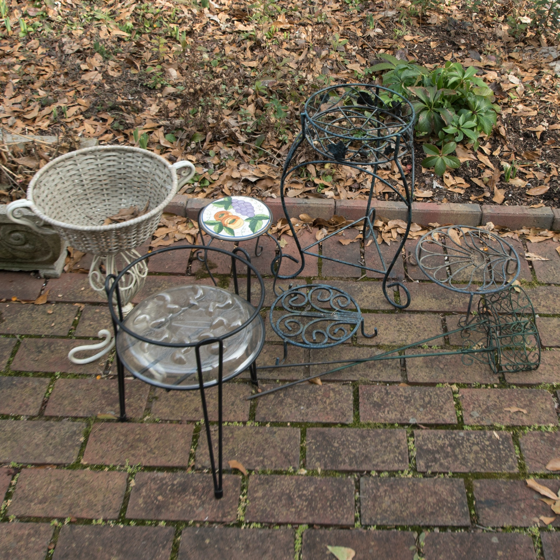 Garden Pot Stands and Votive Holders