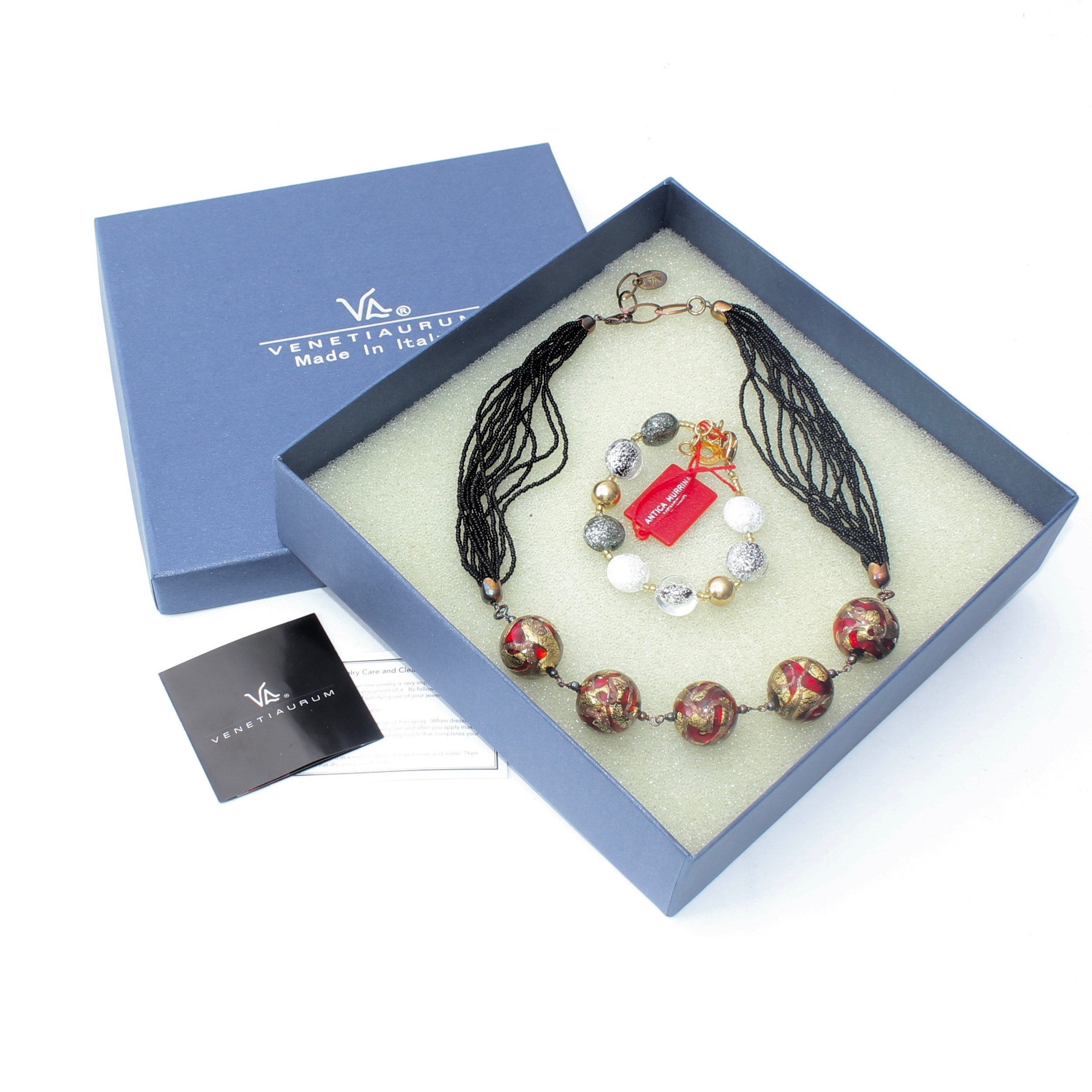 Murano Glass Necklace and Bracelet