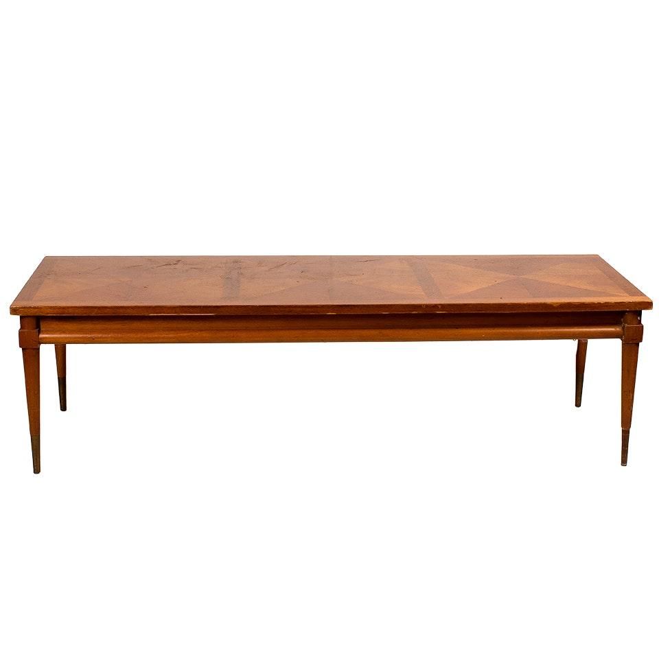 Mid-Century Mahogany Veneer Coffee Table