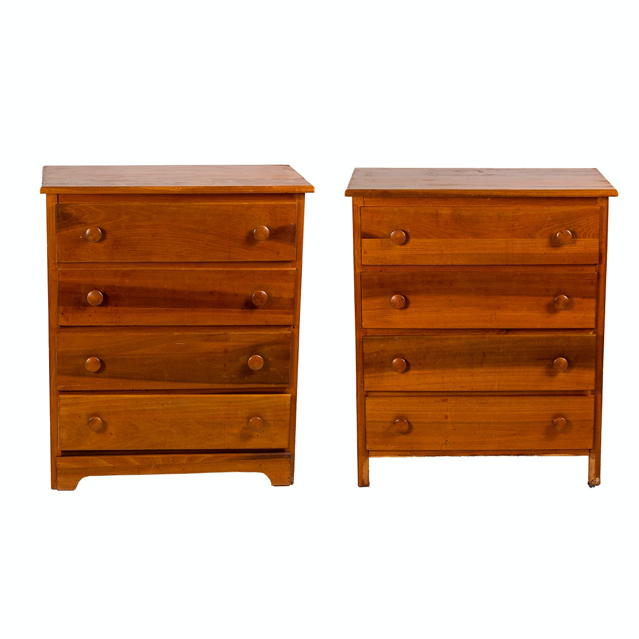 Pair of Shaker Style Wooden Dressers