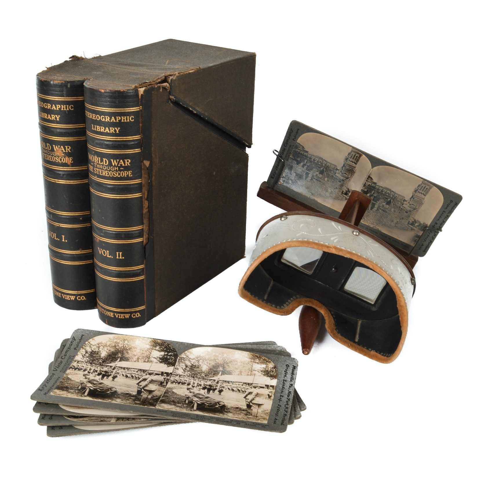 Antique Stereoscope and Stereographic Library