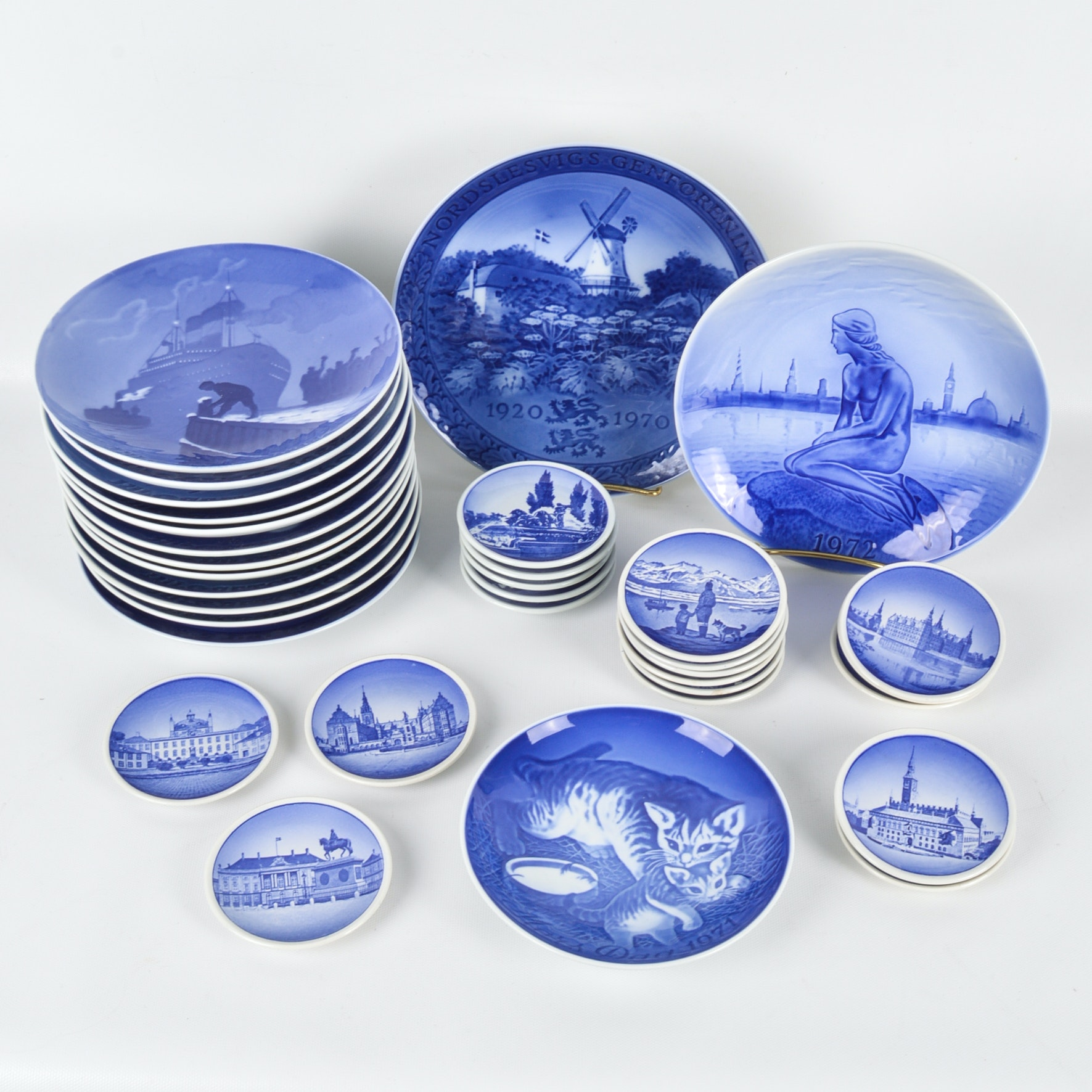 Vintage Bing & Grøndahl, Royal Copenhagen and Aluminia Porcelain Collection