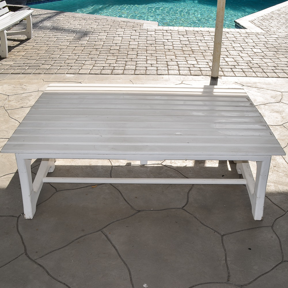 Set of Two Patio Benches