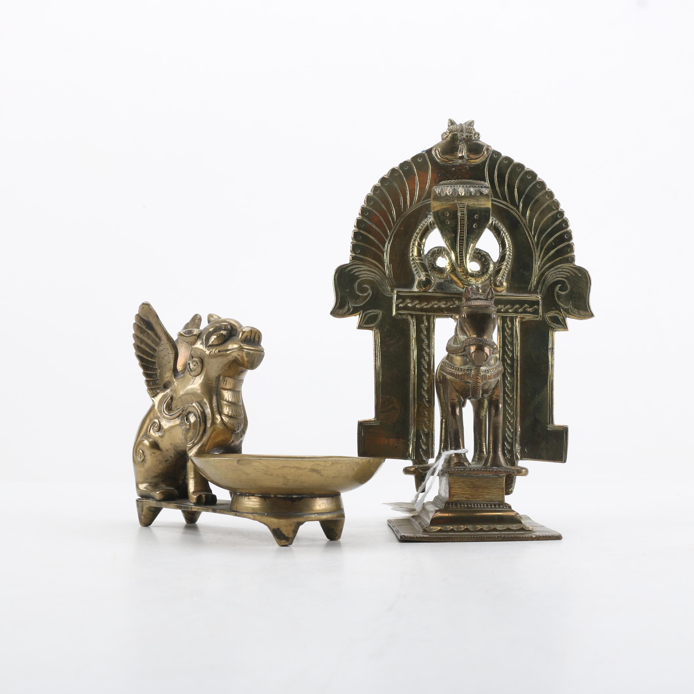 Asian Inspired Brass Figurines