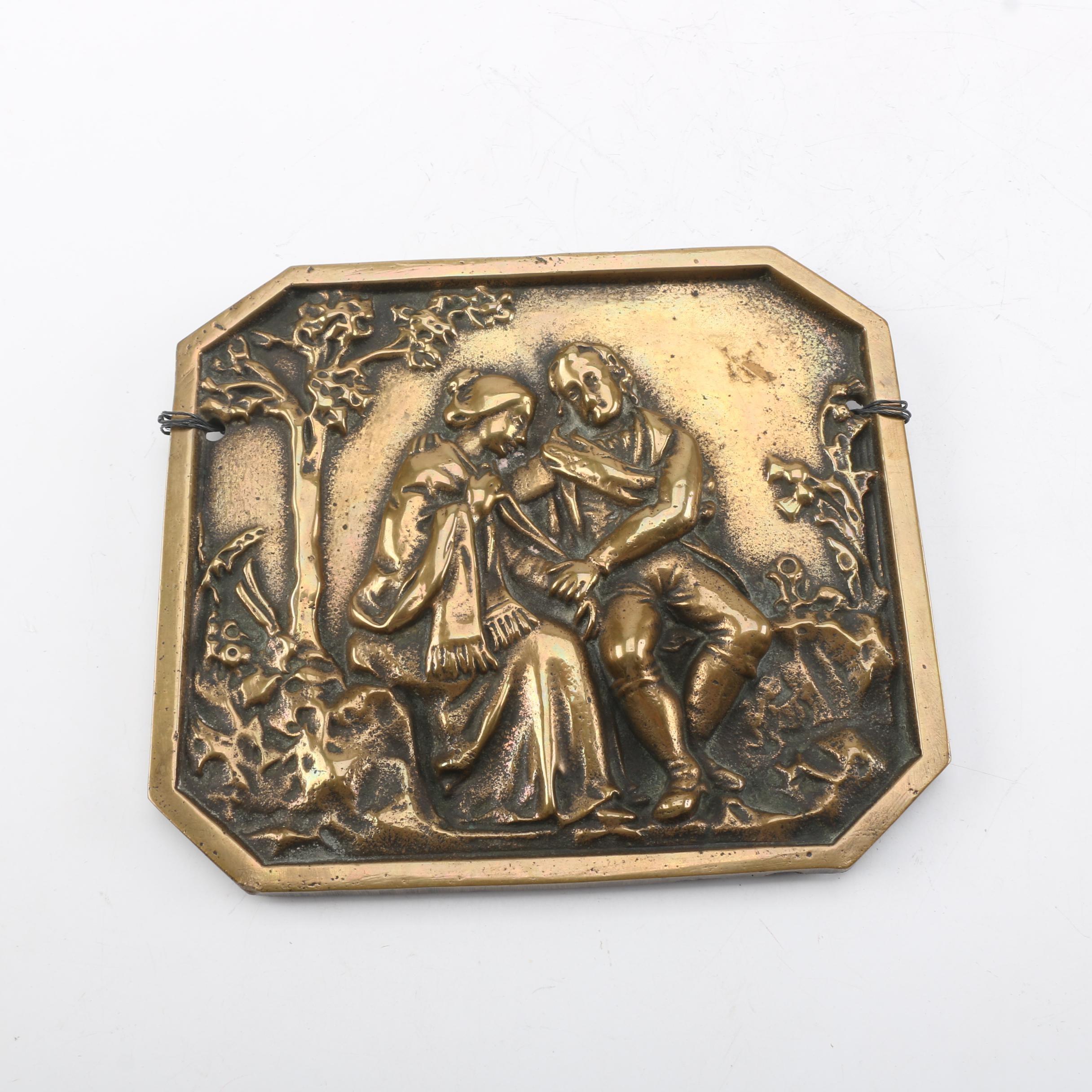 Brass Embossed Plaque