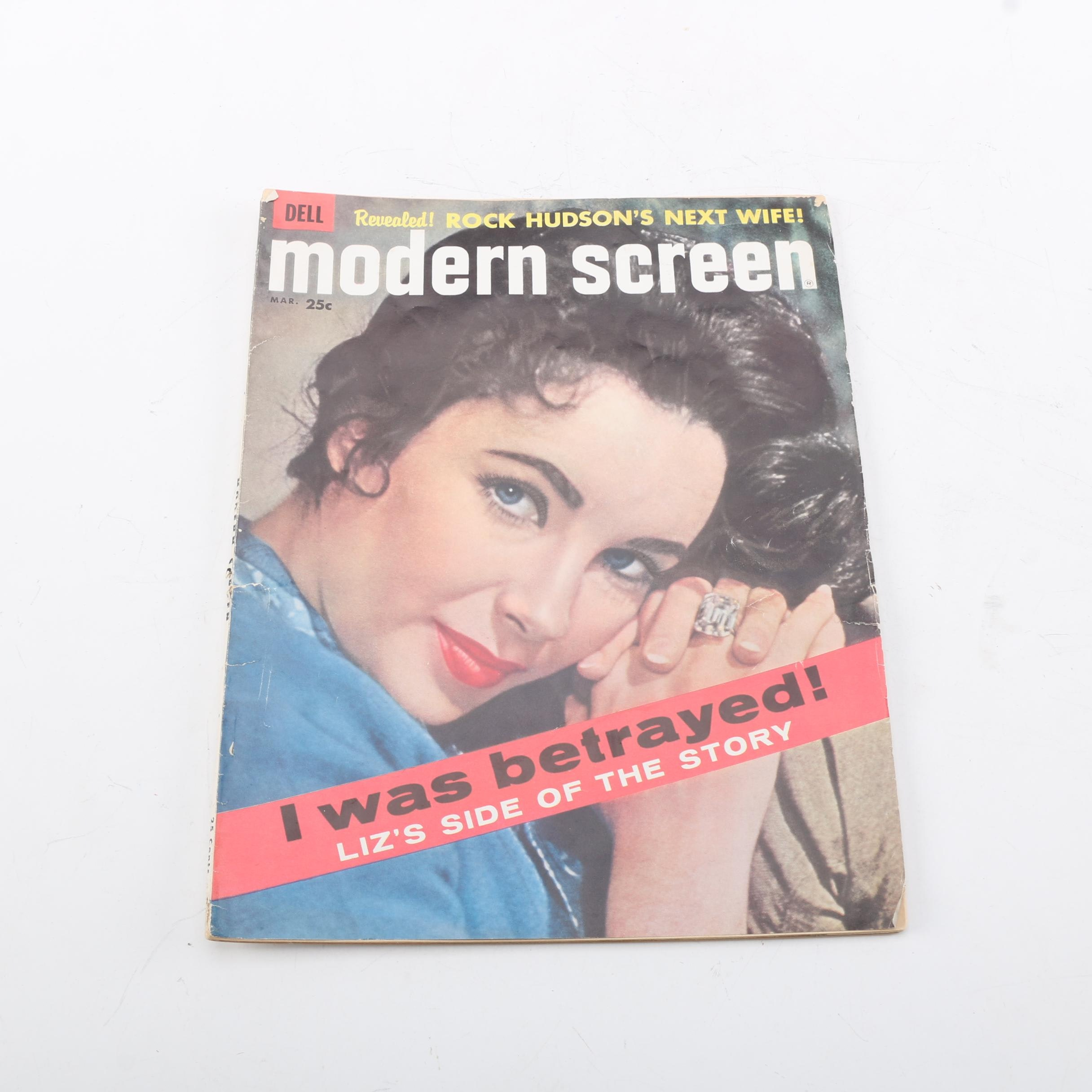 """1959 """"Modern Screen"""" Featuring Elizabeth Taylor"""