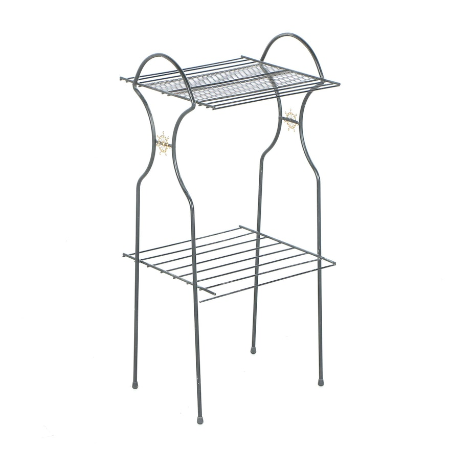 Black Metal Wire Stand : EBTH