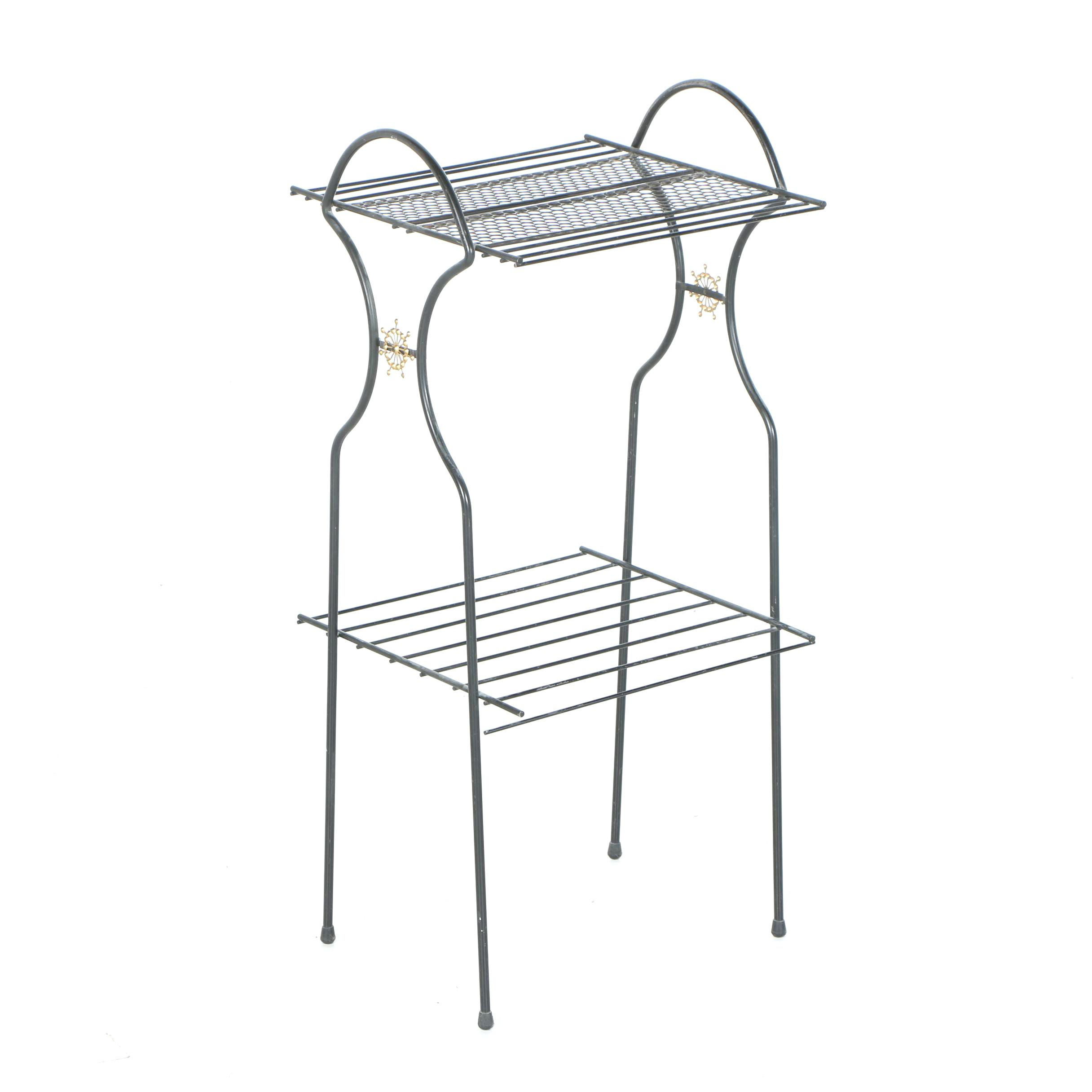 black metal wire stand   ebth