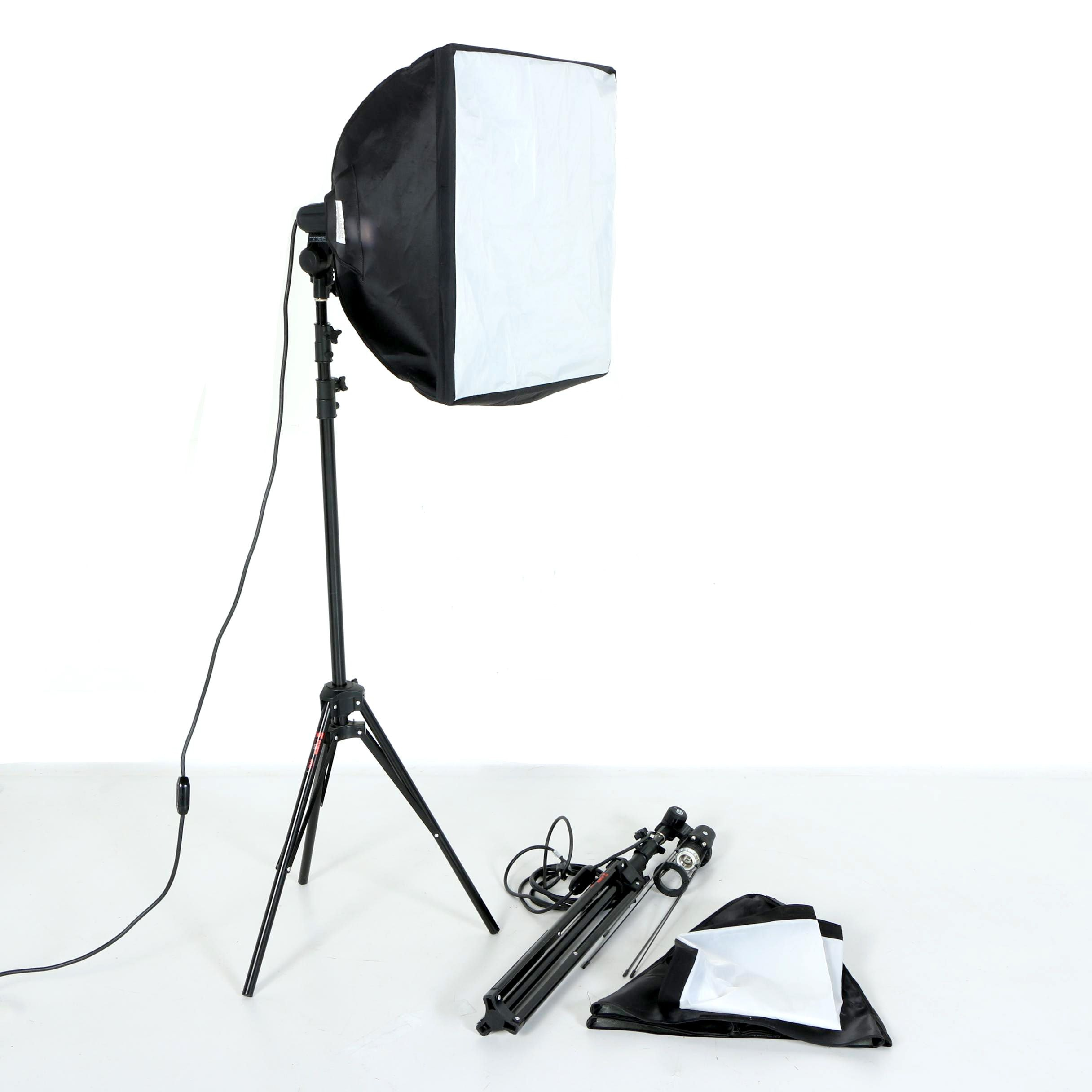 Pair Westcott Photo Basics Softboxes, Continuous Lights, and Telescopic Stands