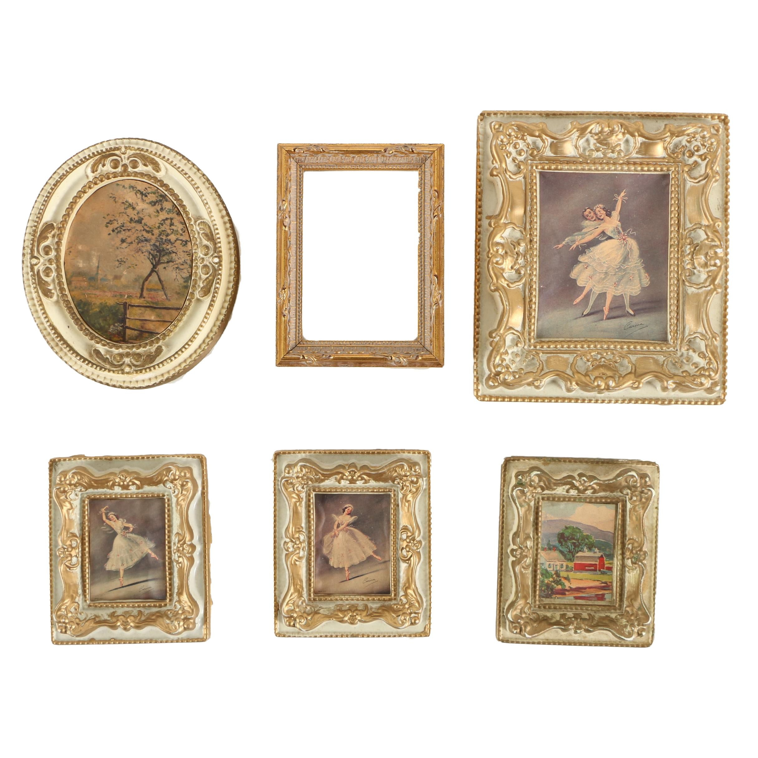 Offset Lithographs Featuring Ornate Picture Frames