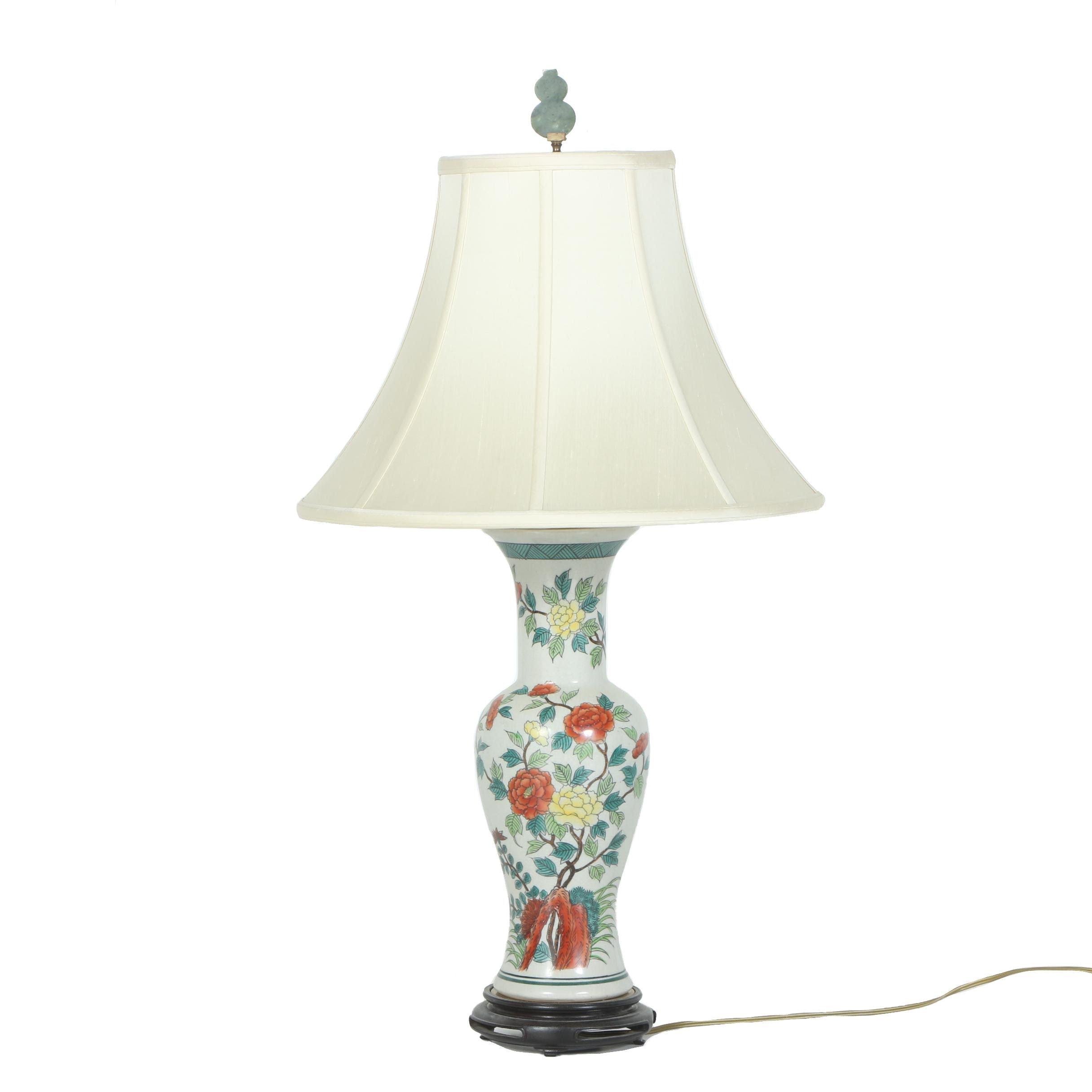 Asian Style Ceramic Table Lamp