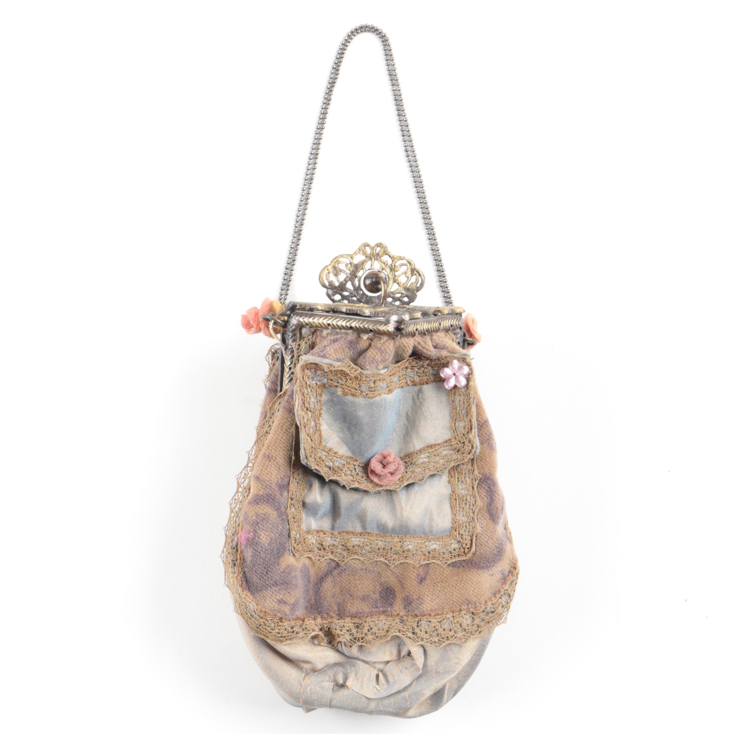 Handmade Mixed Media Occasion Frame Handbag