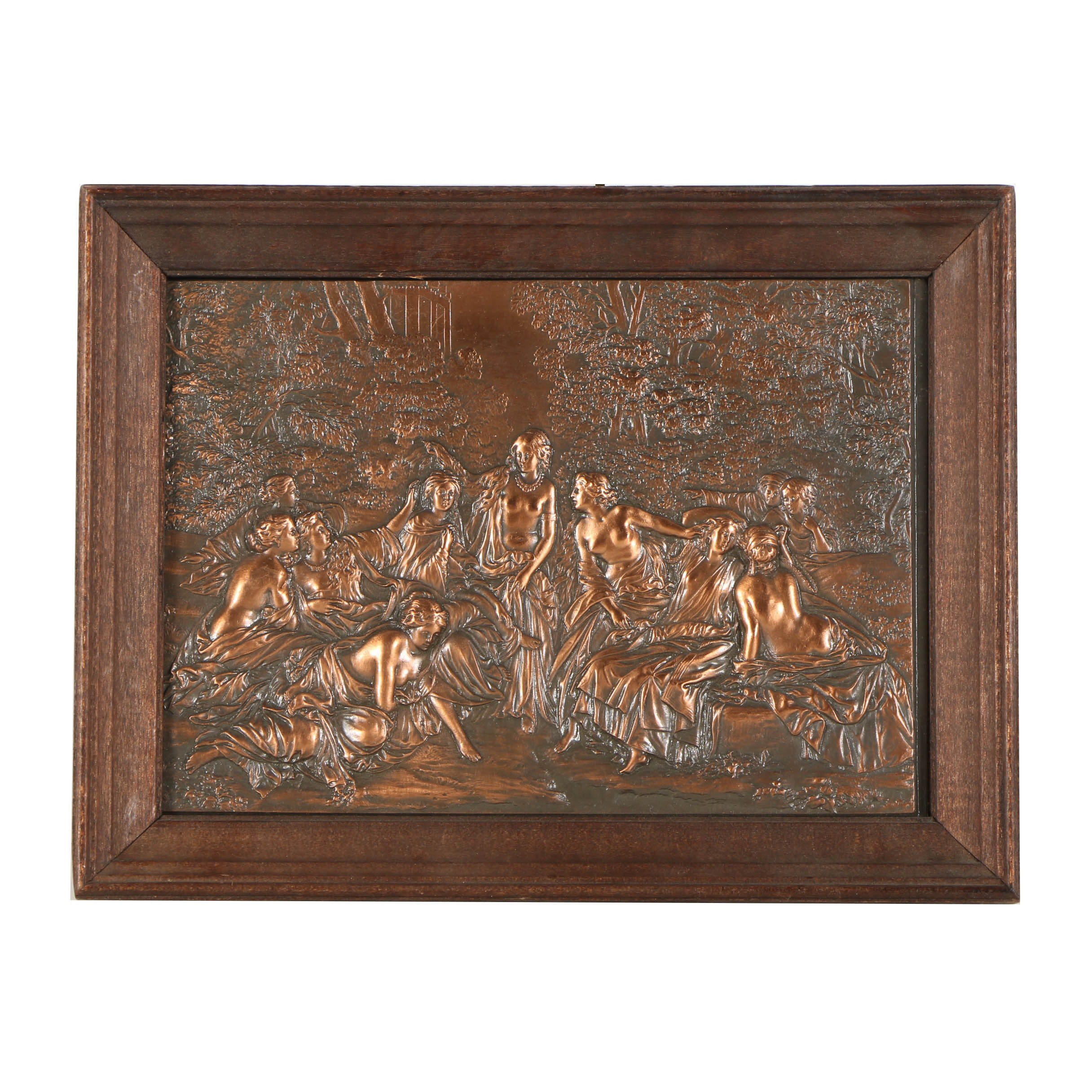 Copper Relief Sculpture of the Muses