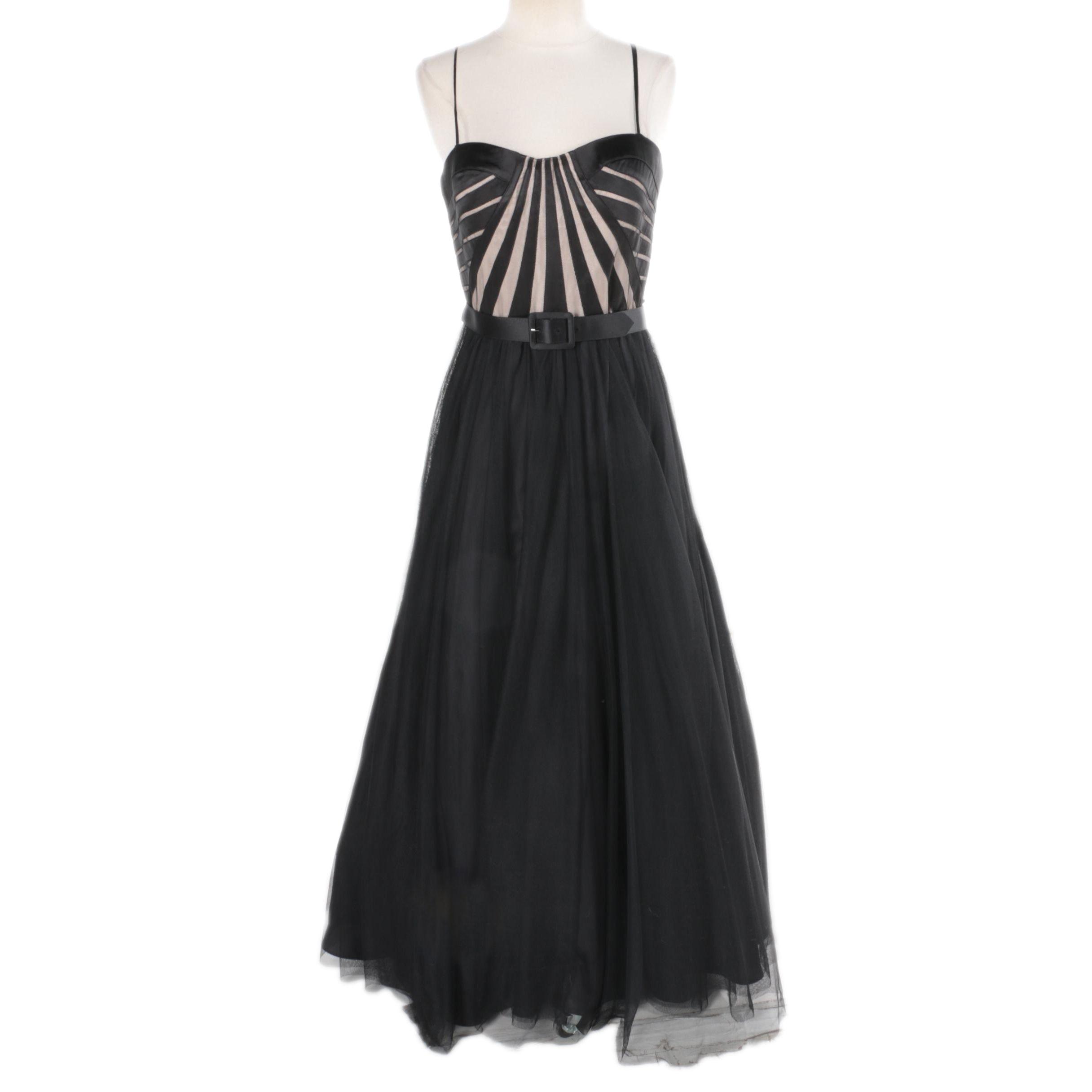 Women's Aidan Mattox Black Sleeveless Gown