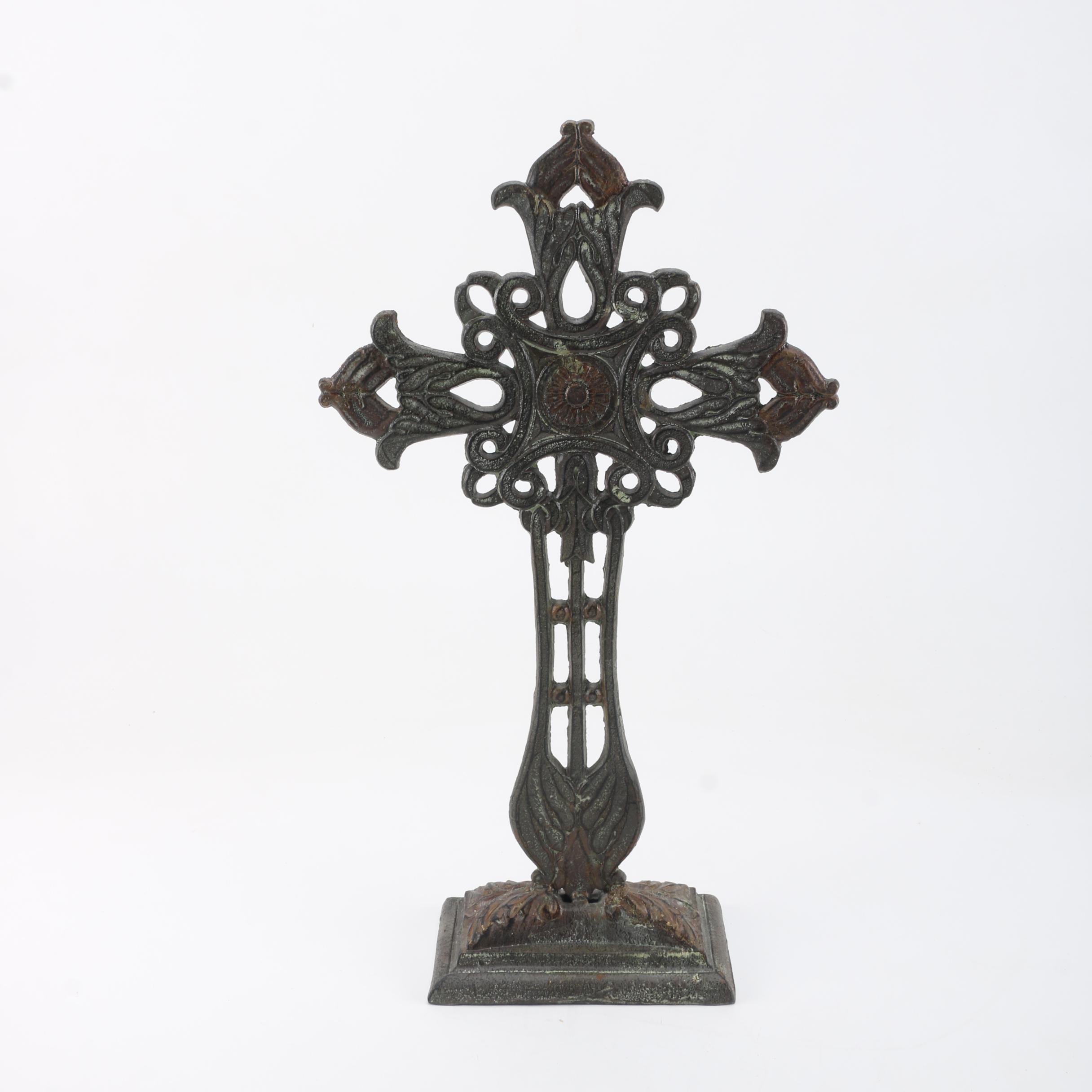 Large Ornate Cast Metal Cross