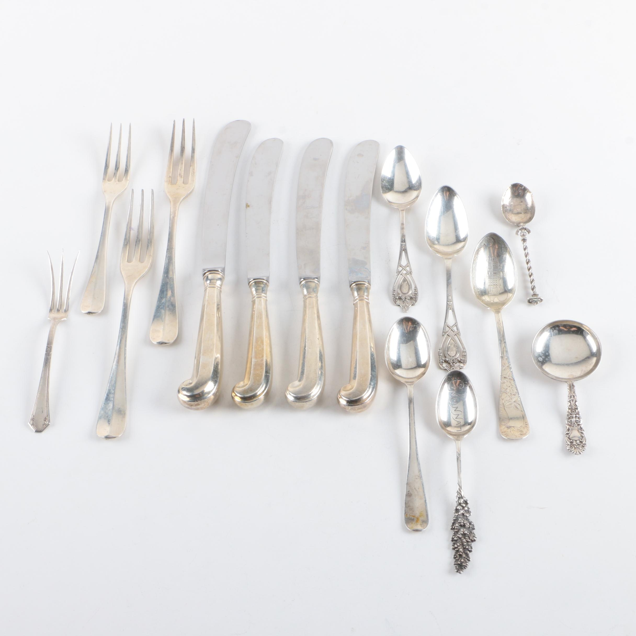 Dominick & Haff and Other Sterling Flatware with 800 Silver Spoon