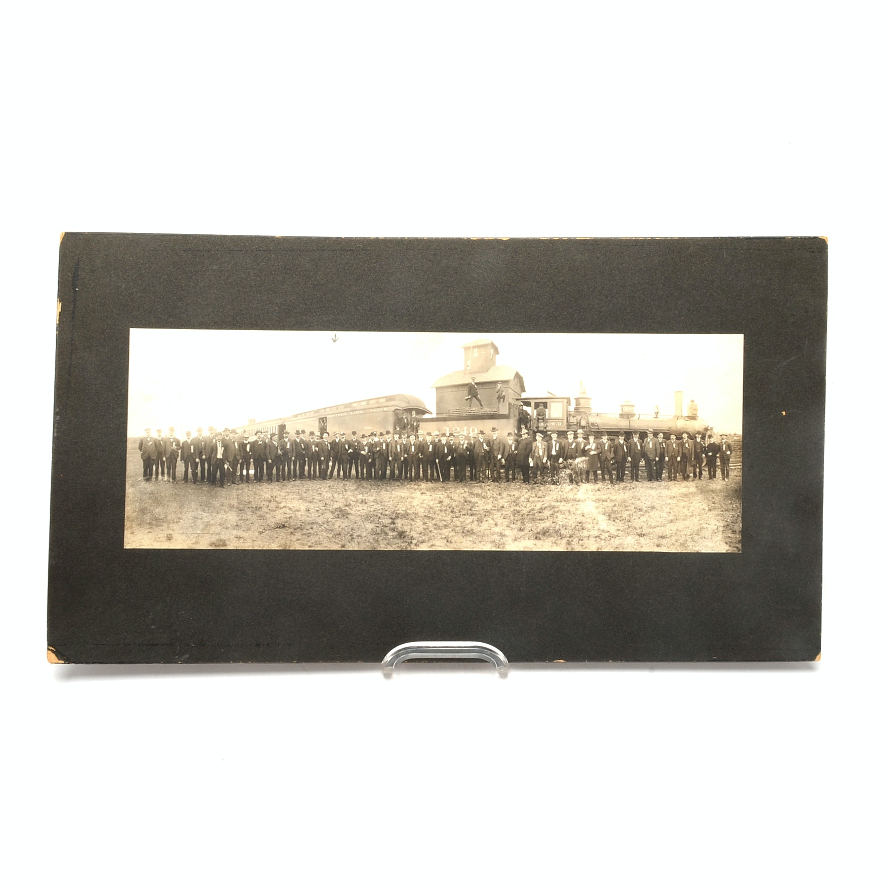 """1890s """"North-Western Railroad"""" Workers Ceremonial Photograph"""