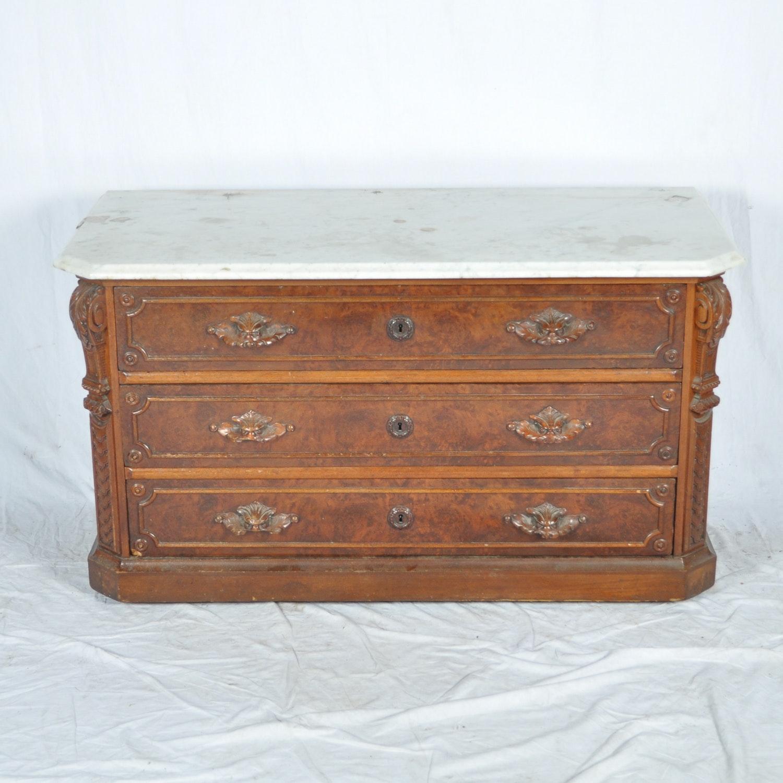 Victorian Era Marble Top Dresser