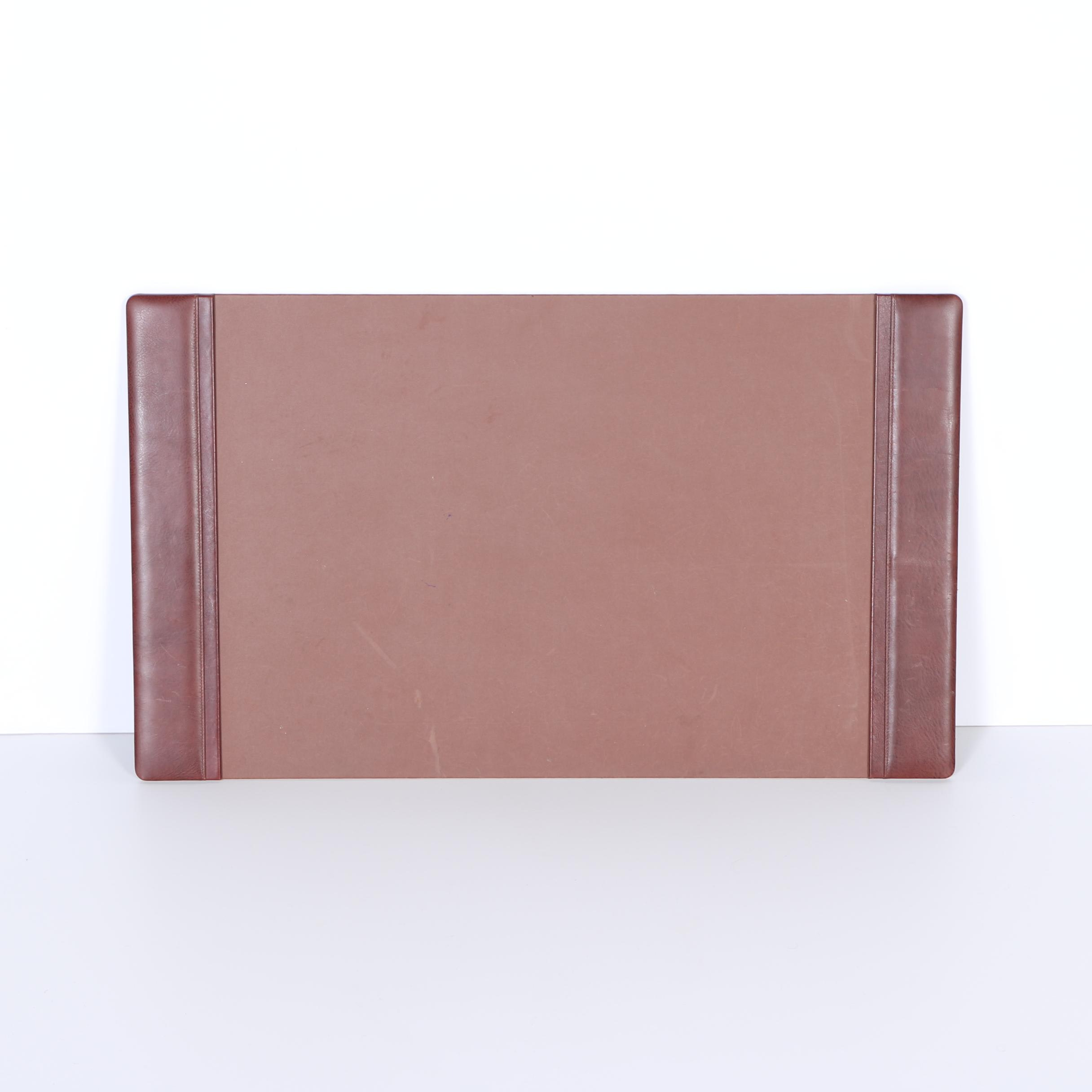Brown Desk Pad with Leather Sides