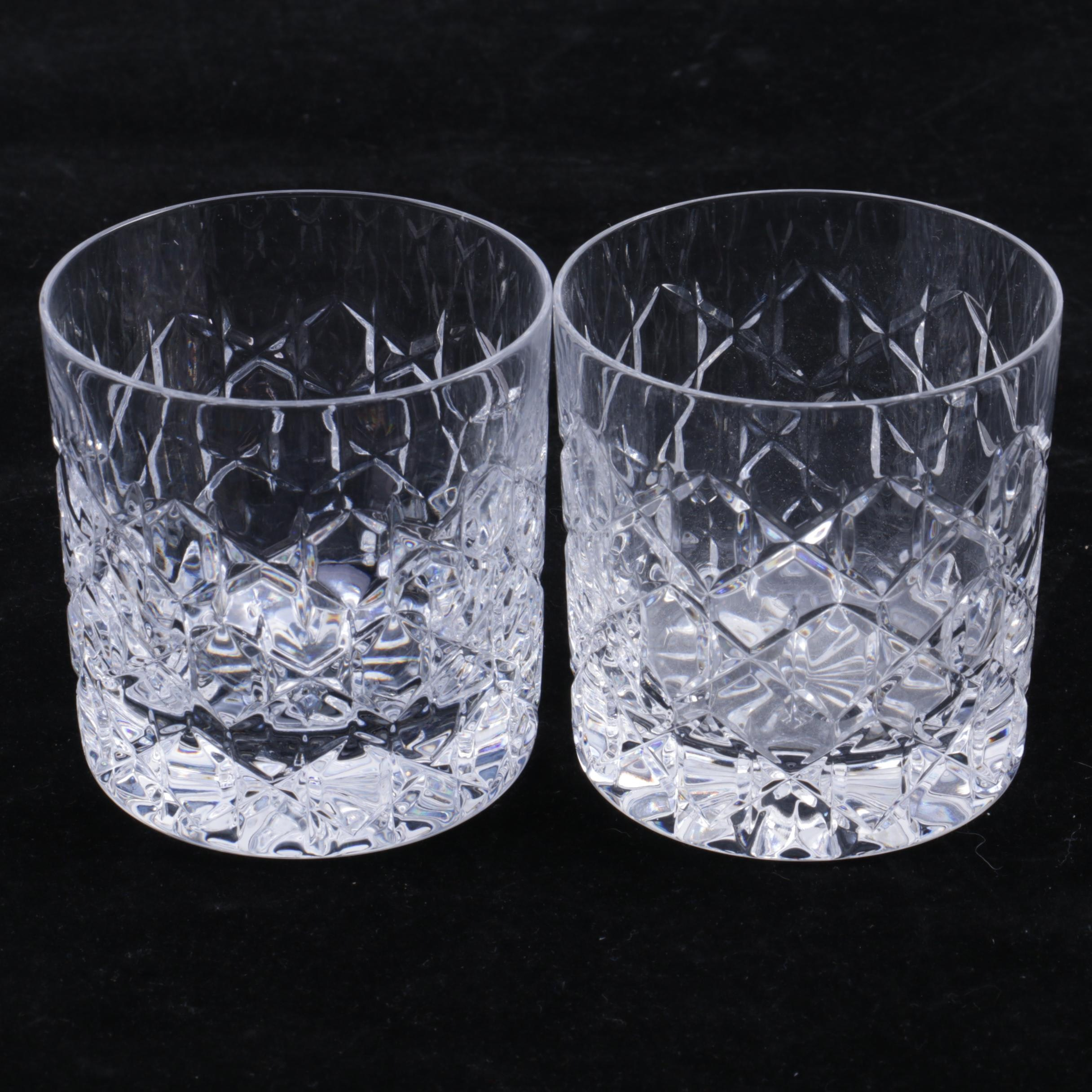 """Tiffany & Co. Crystal """"Grenada"""" Old Fashioned Glasses"""