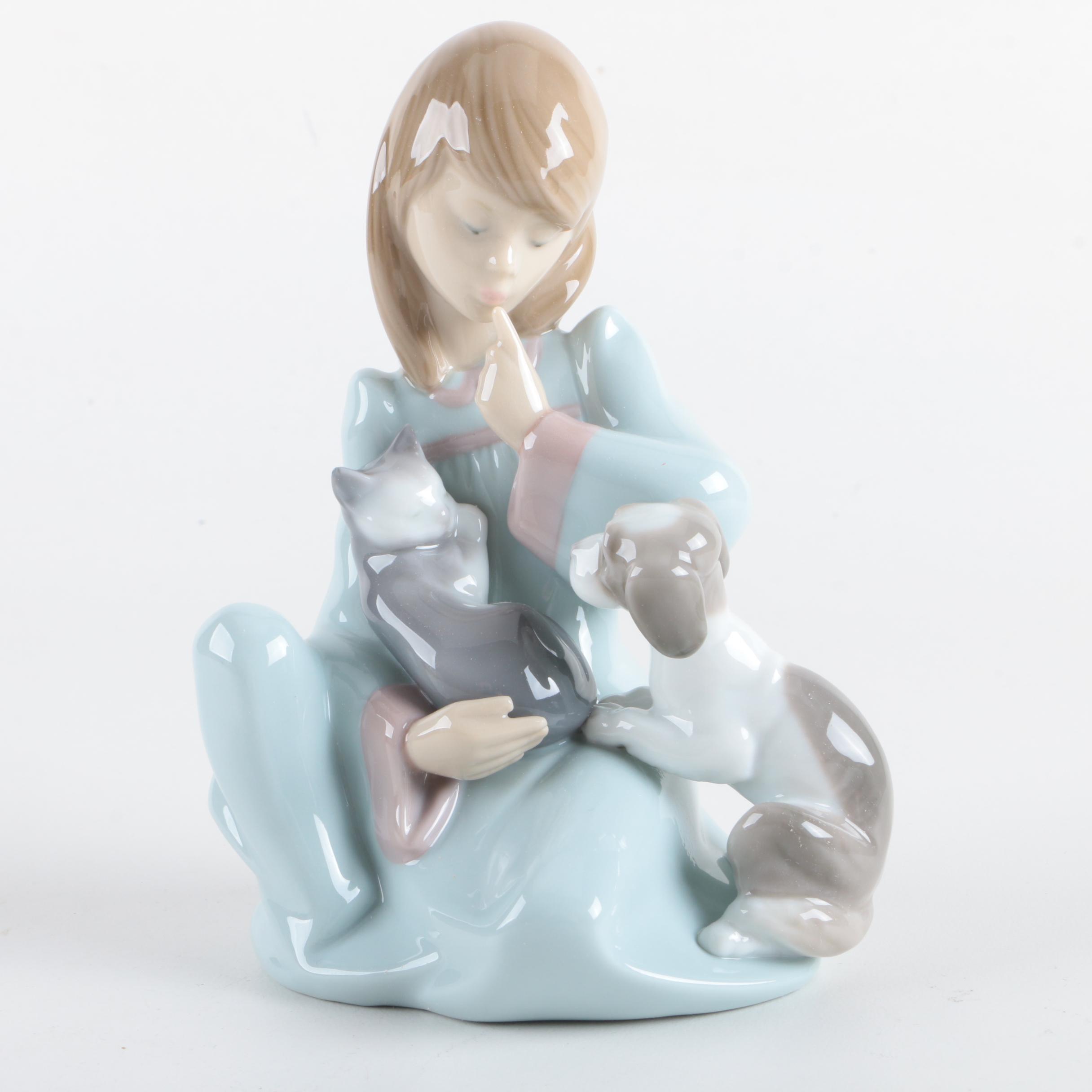 """1969 Lladró """"Cat Nap"""" Porcelain Figurine"""