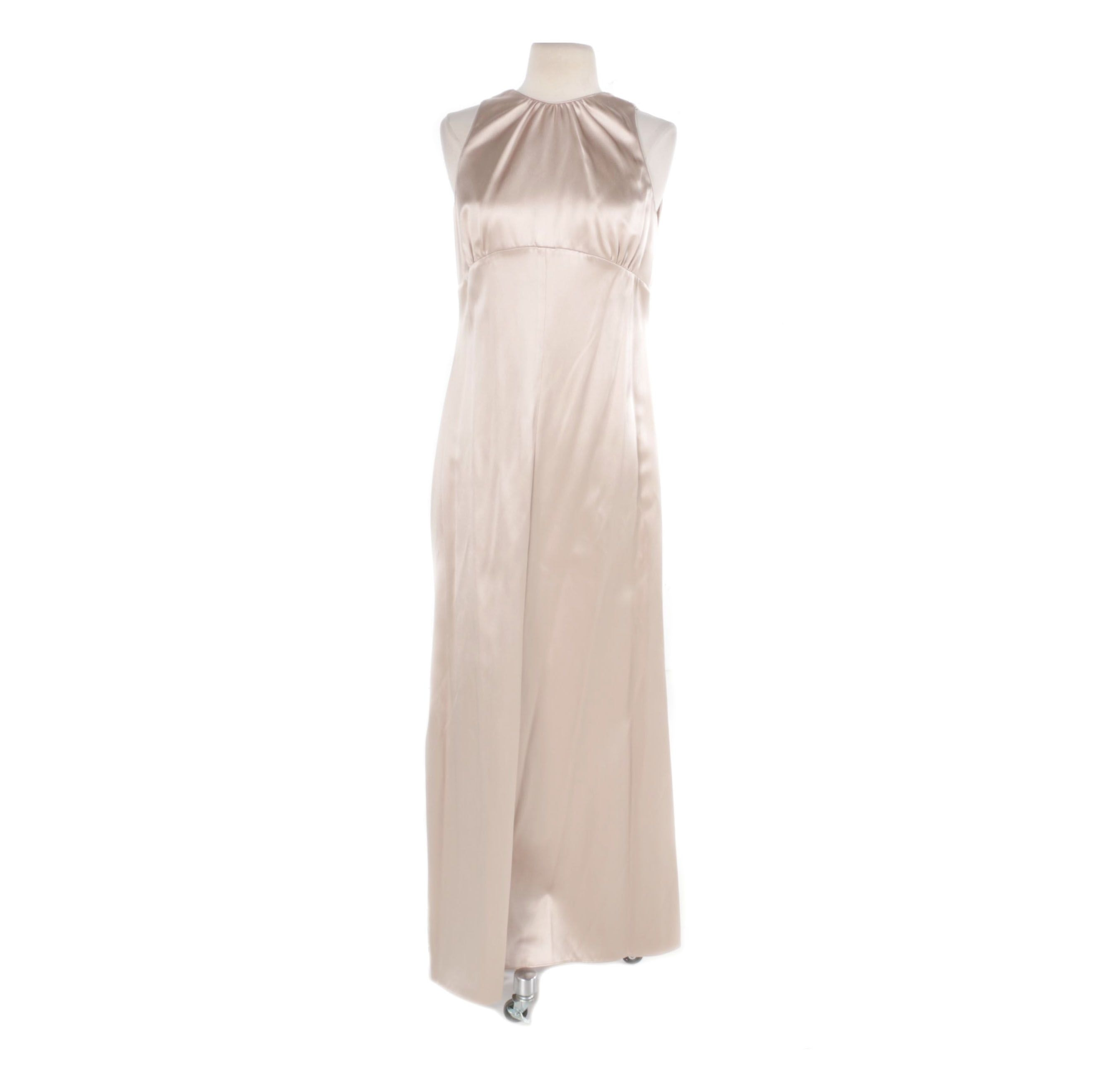 Giorgio Armani Champagne Silk Sleeveless Dress