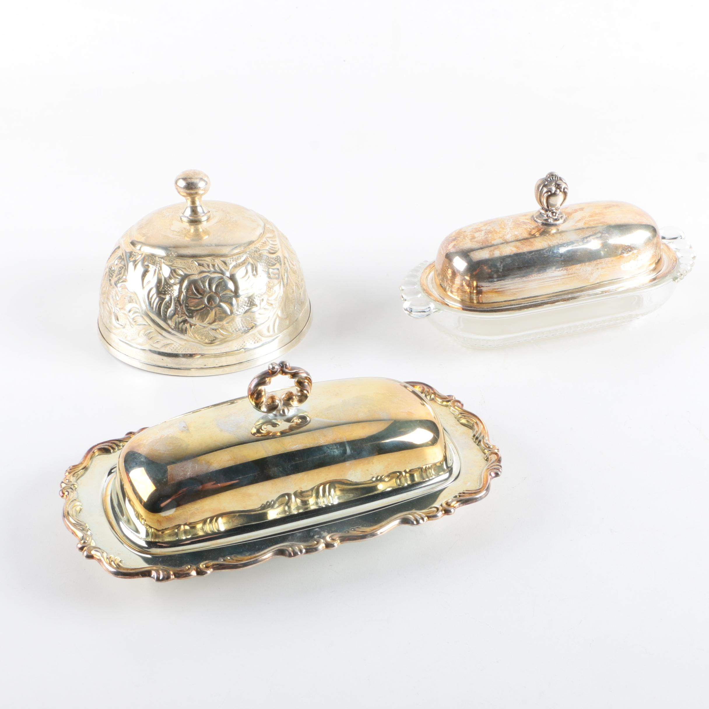 Wm. Rogers & Son and Other Silver Plate Butter Dish