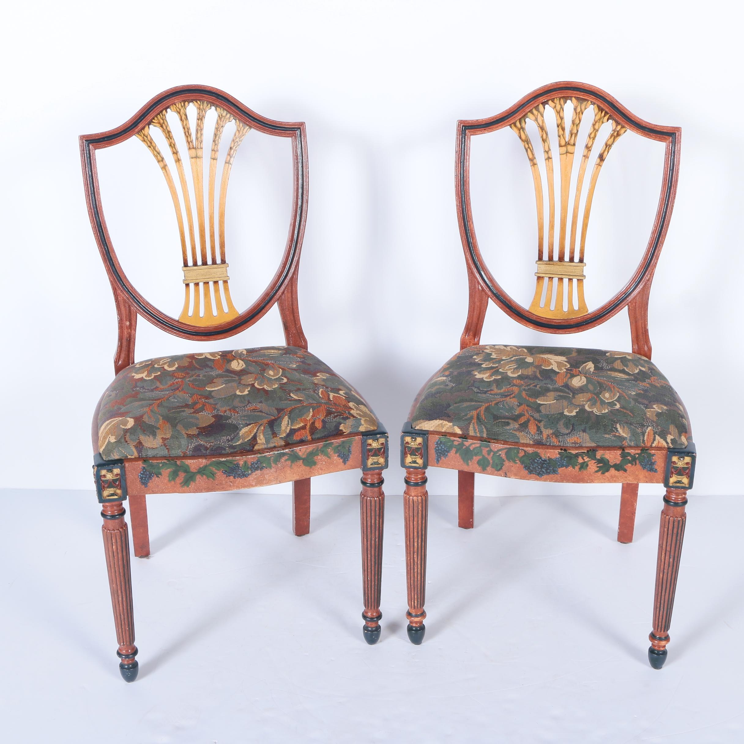 Sheraton Style Shield Back Chairs