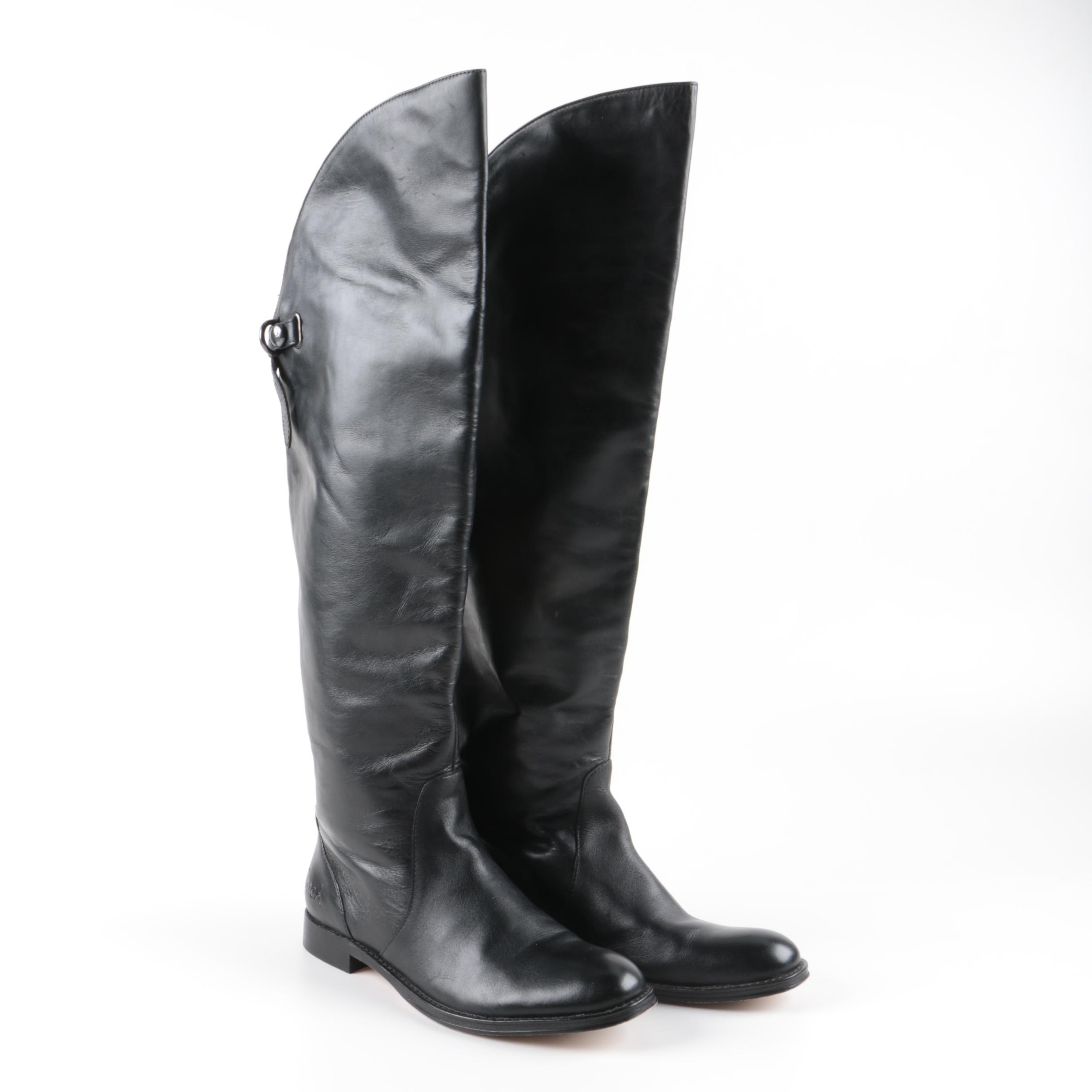 Women's Coach Cheyenne Black Leather Boots