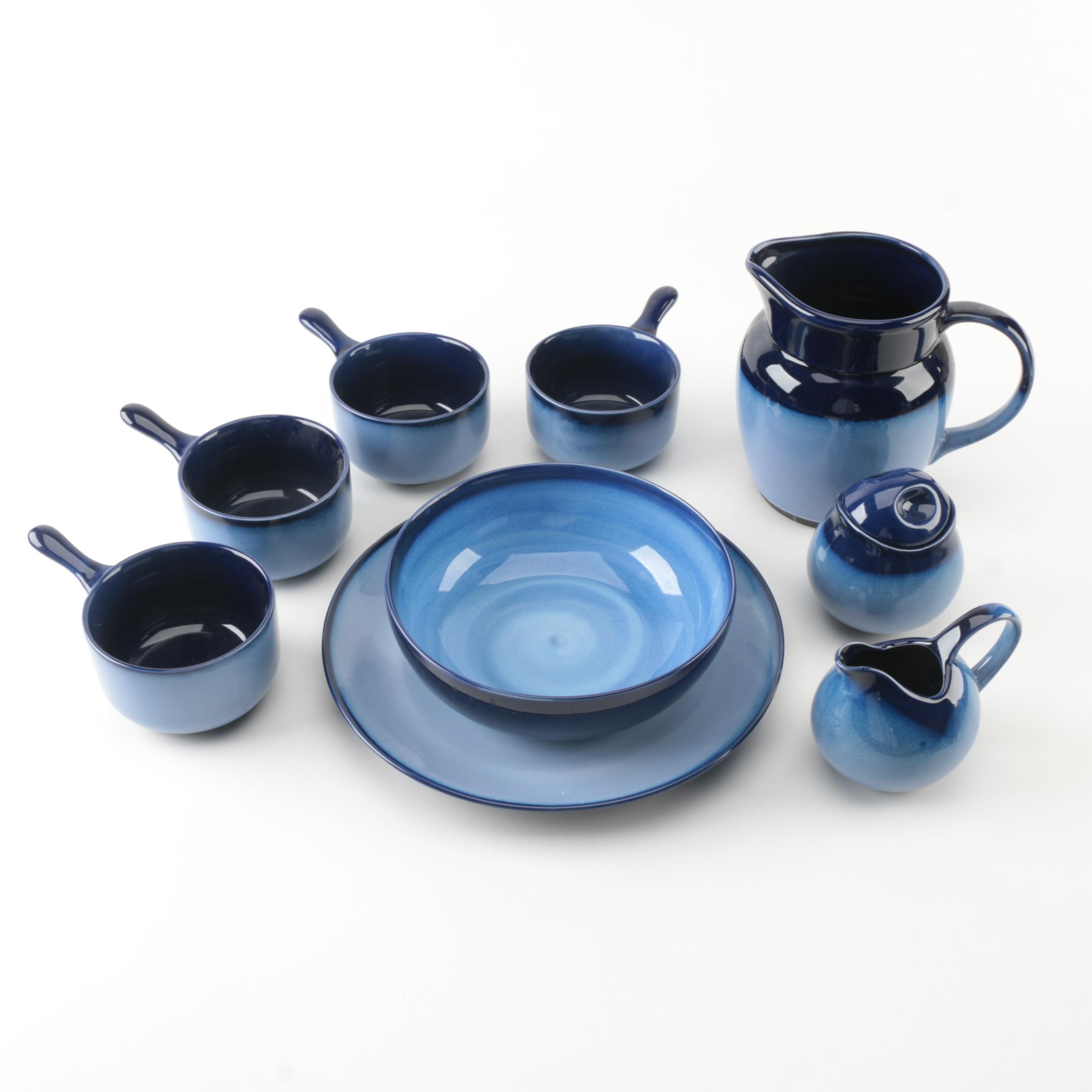 "Sango ""Nova Blue"" Ceramic Tableware"