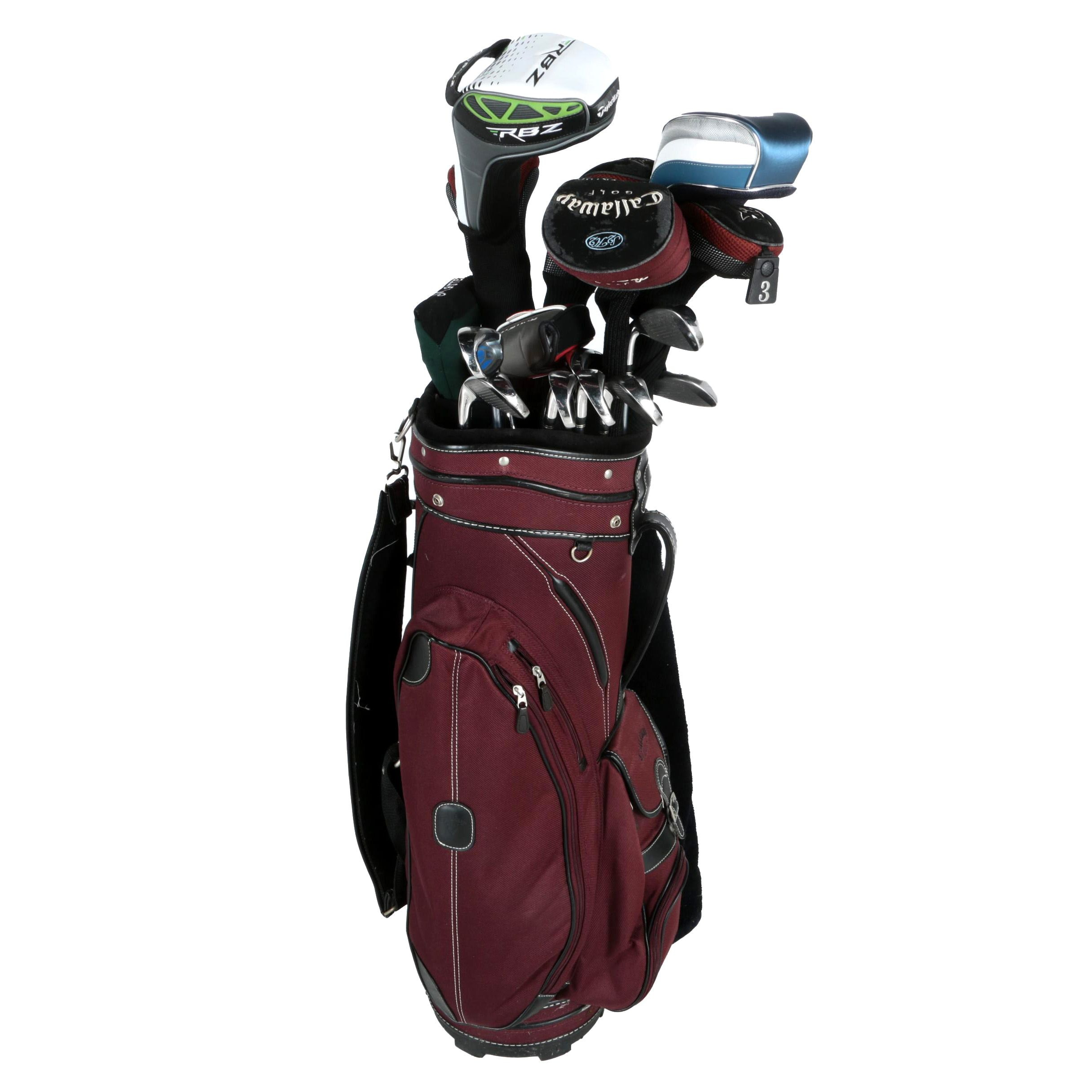 Set of Golf Clubs with Golf Bag and Accessories